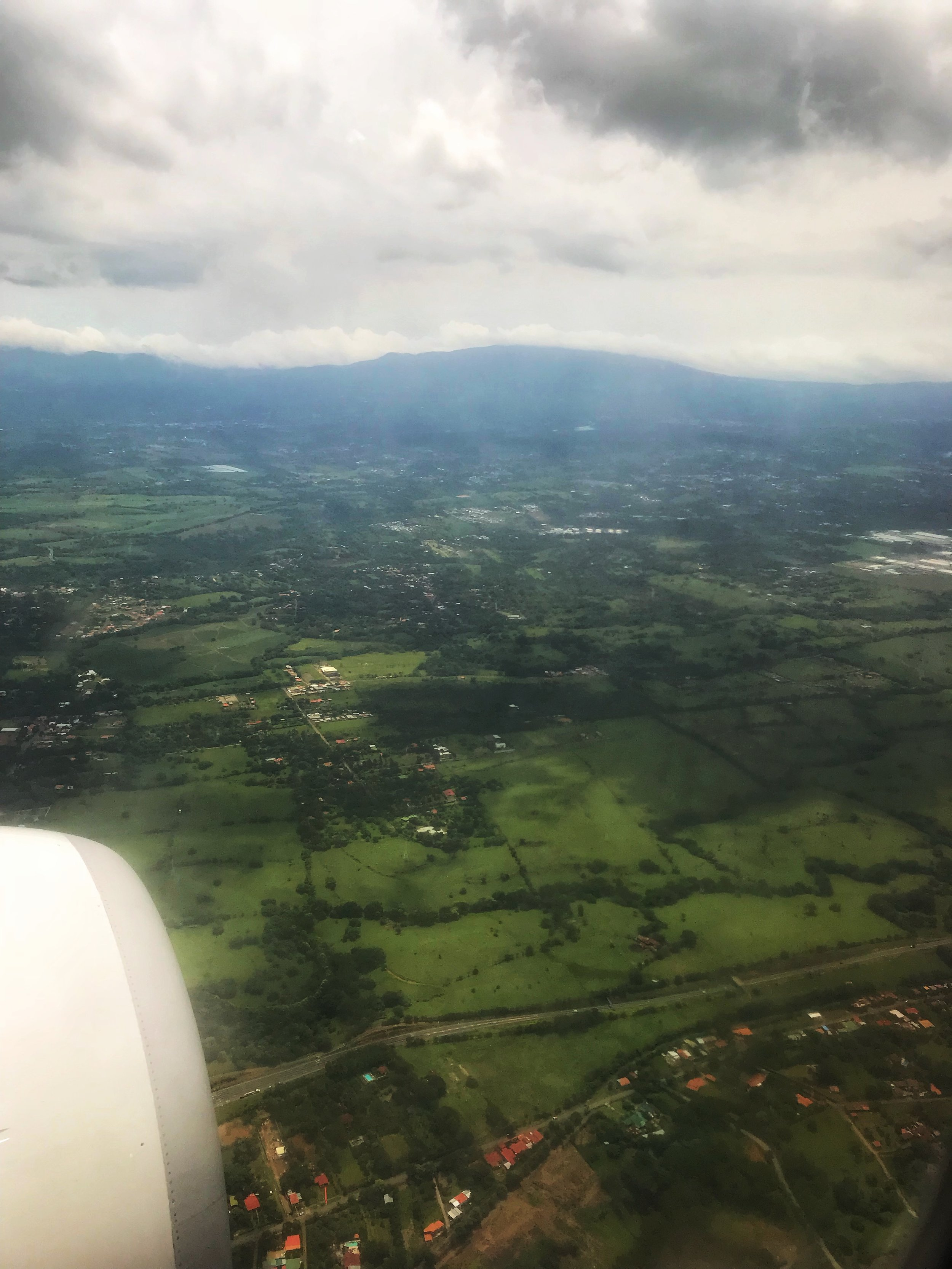 Descending into Costa Rica on Copa