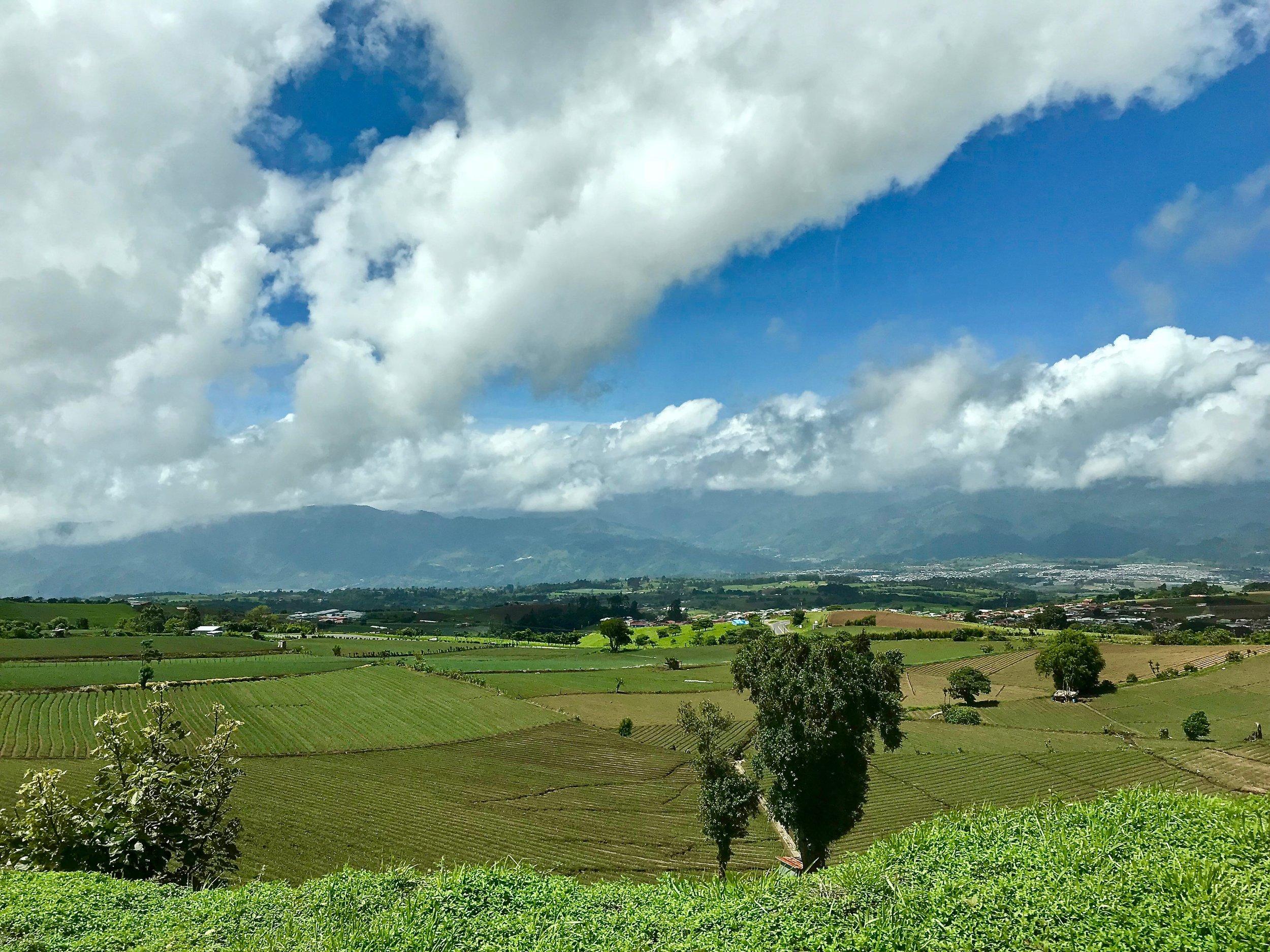 The landscape around Irazú Volcano