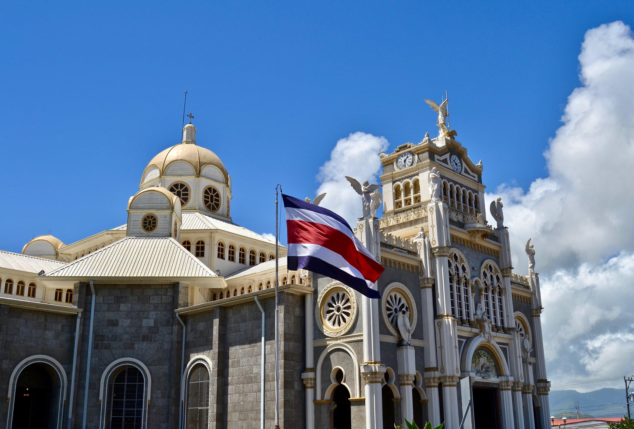 Basilica de Nuestra Señora de los Ángeles in Cartago, Costa Rica