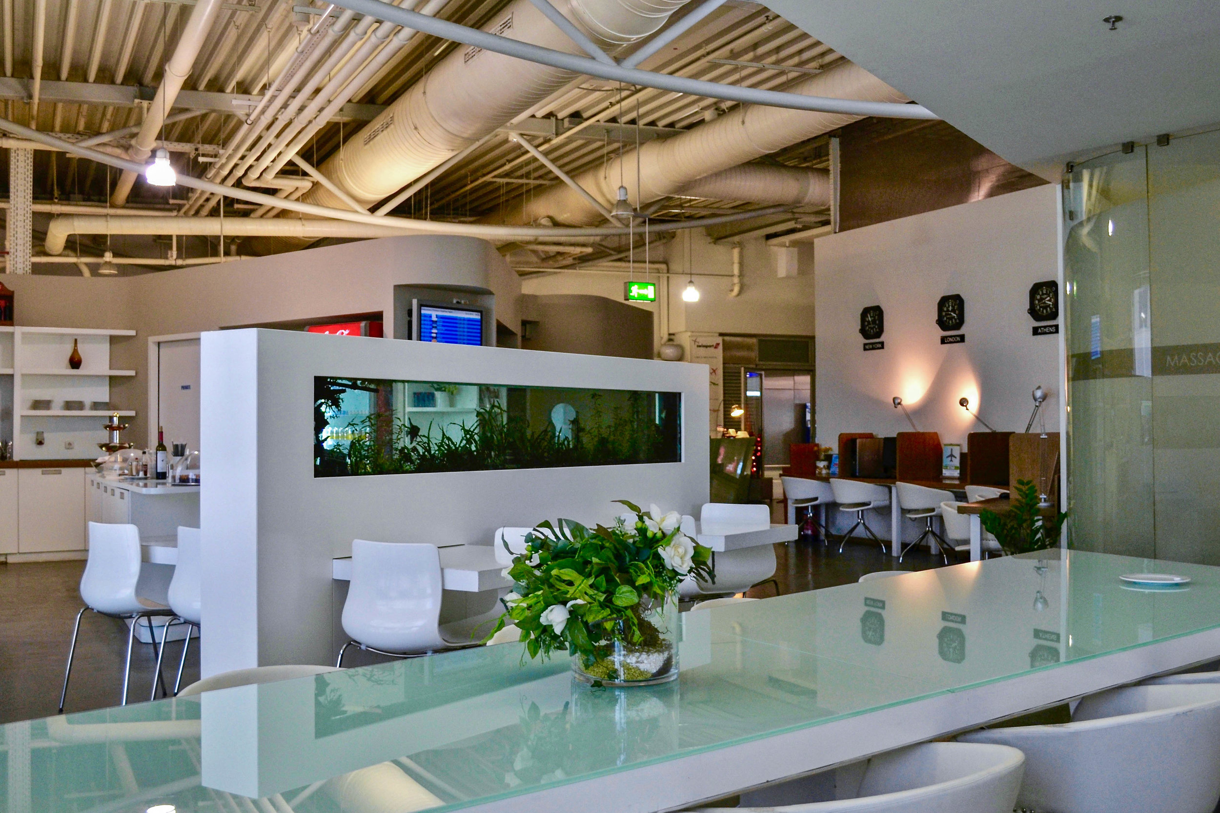 The Swissport Executive Lounge in Athens, Greece