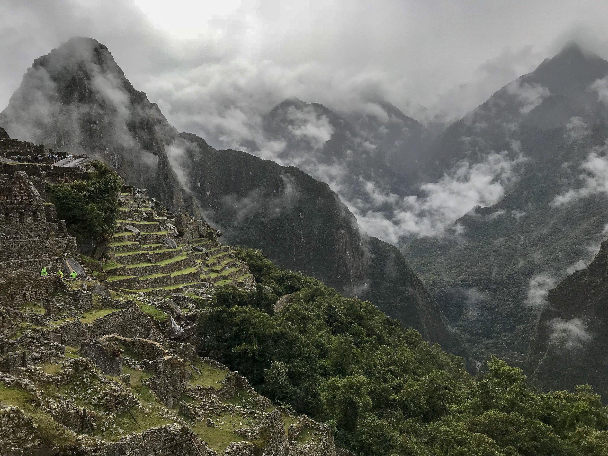 Machu Picchu and Mountains