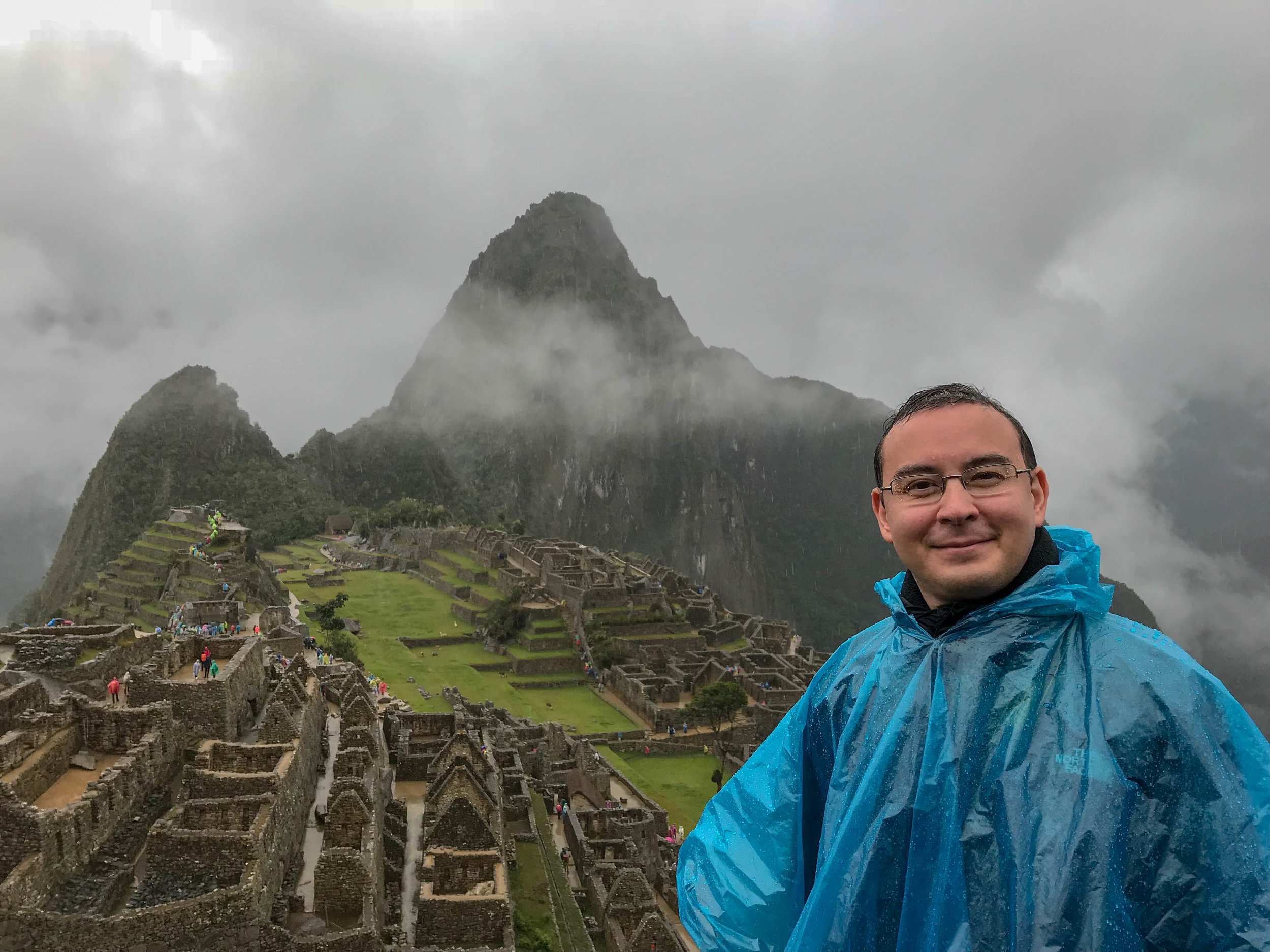 The author with Machu Picchu