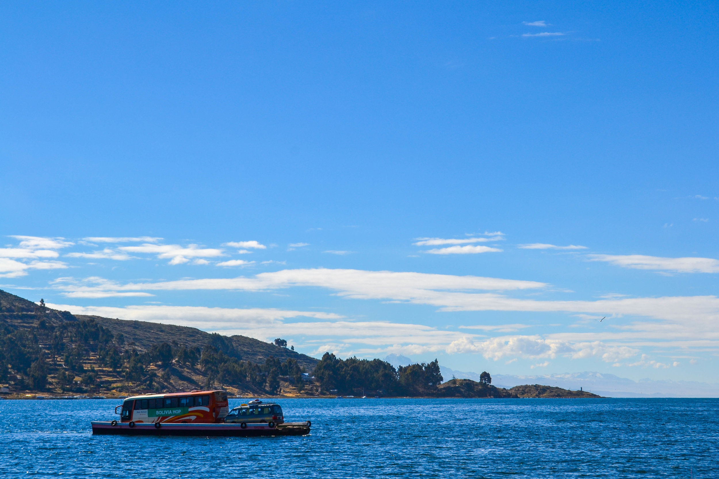 Crossing the Strait of Tiquina