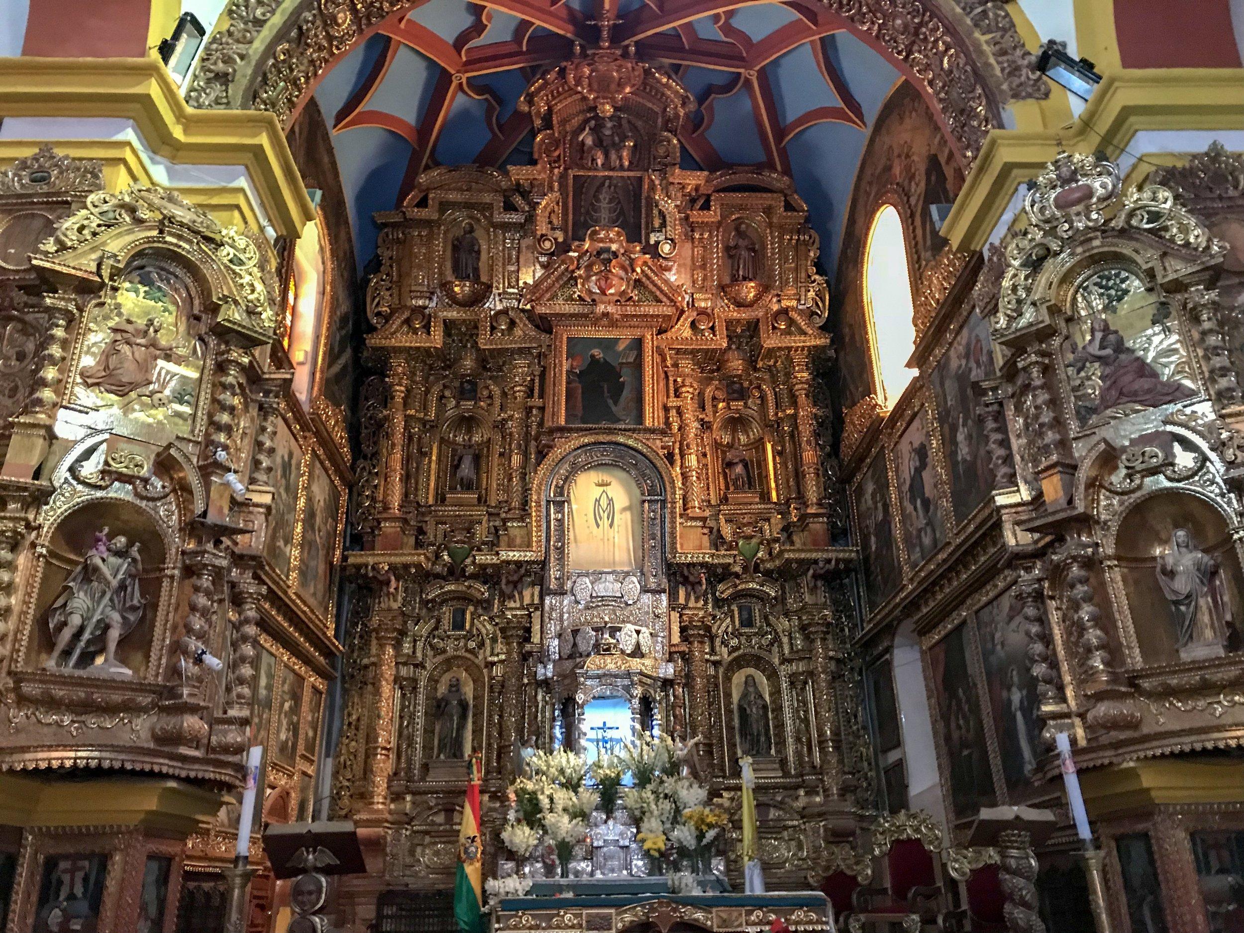 High Altar of Basilica of Our Lady of Copacabana