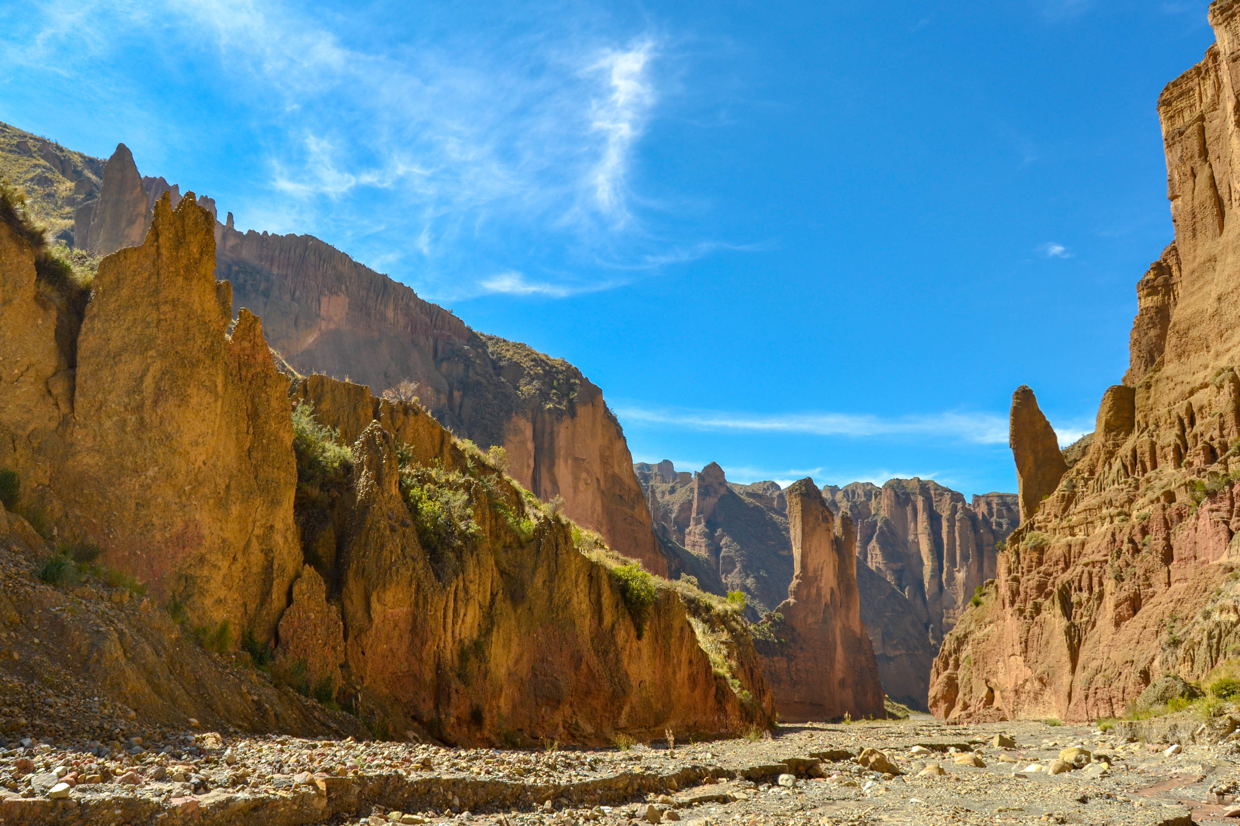 The interior of Palca Canyon