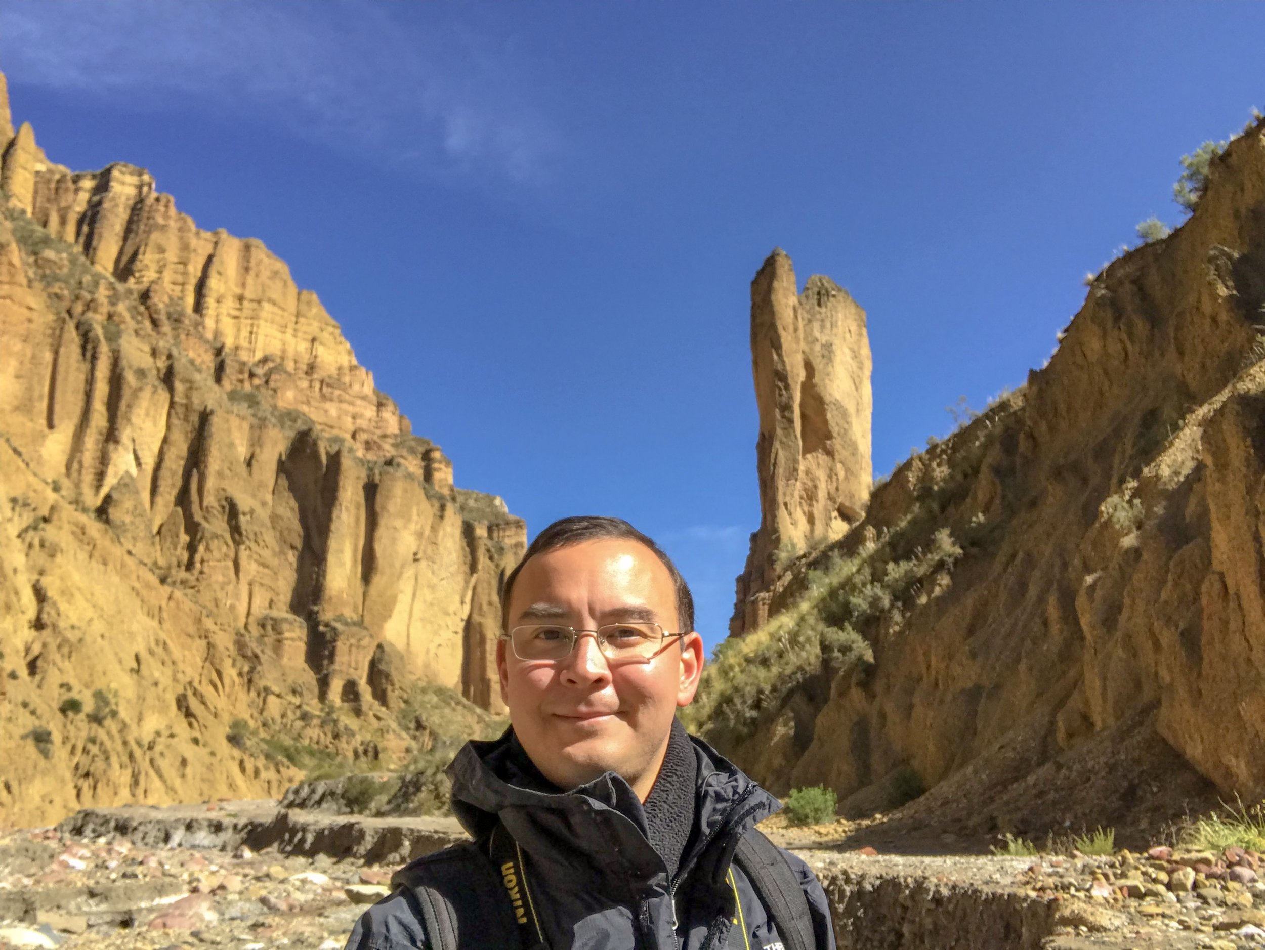 The author in Palca Canyon