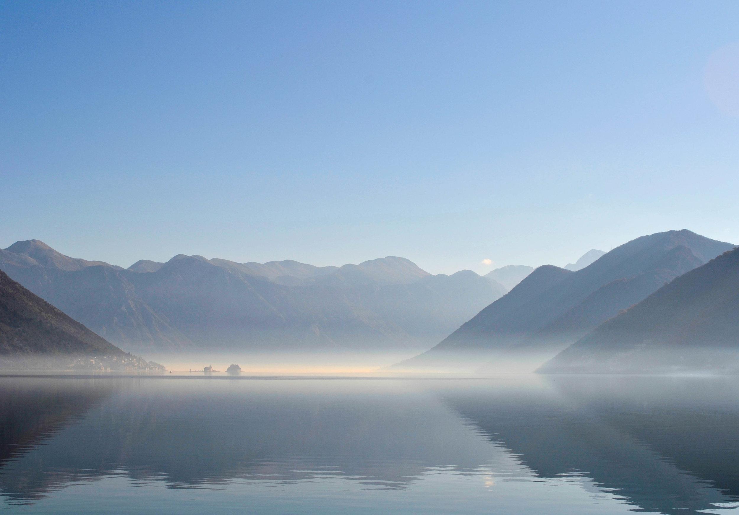 View of Perast, Montenegro