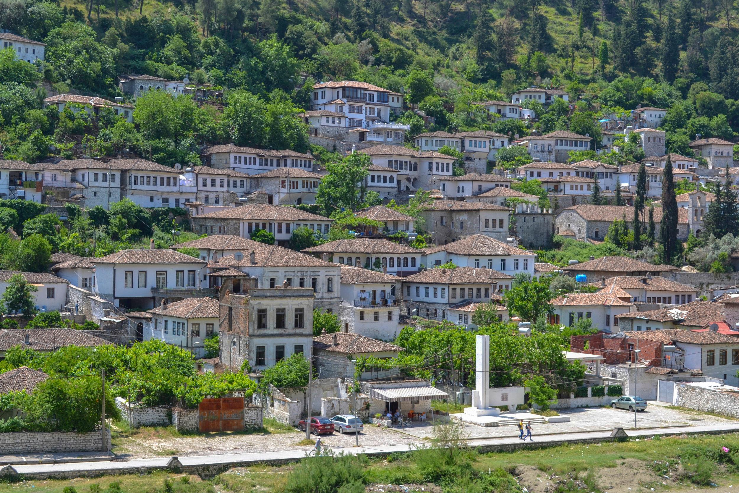 Berat, the City of Windows, in Albania