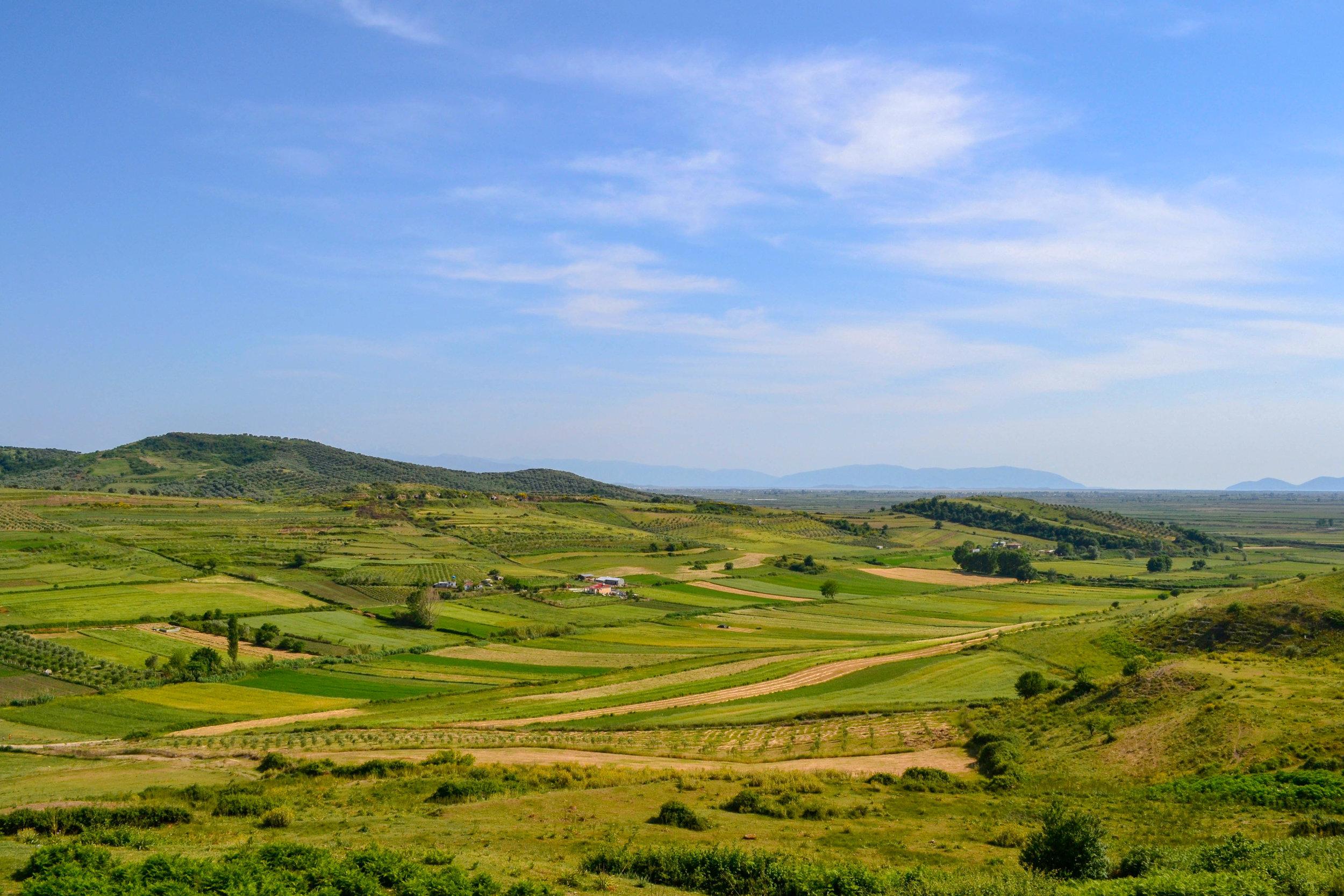 Rural Albanian landscape