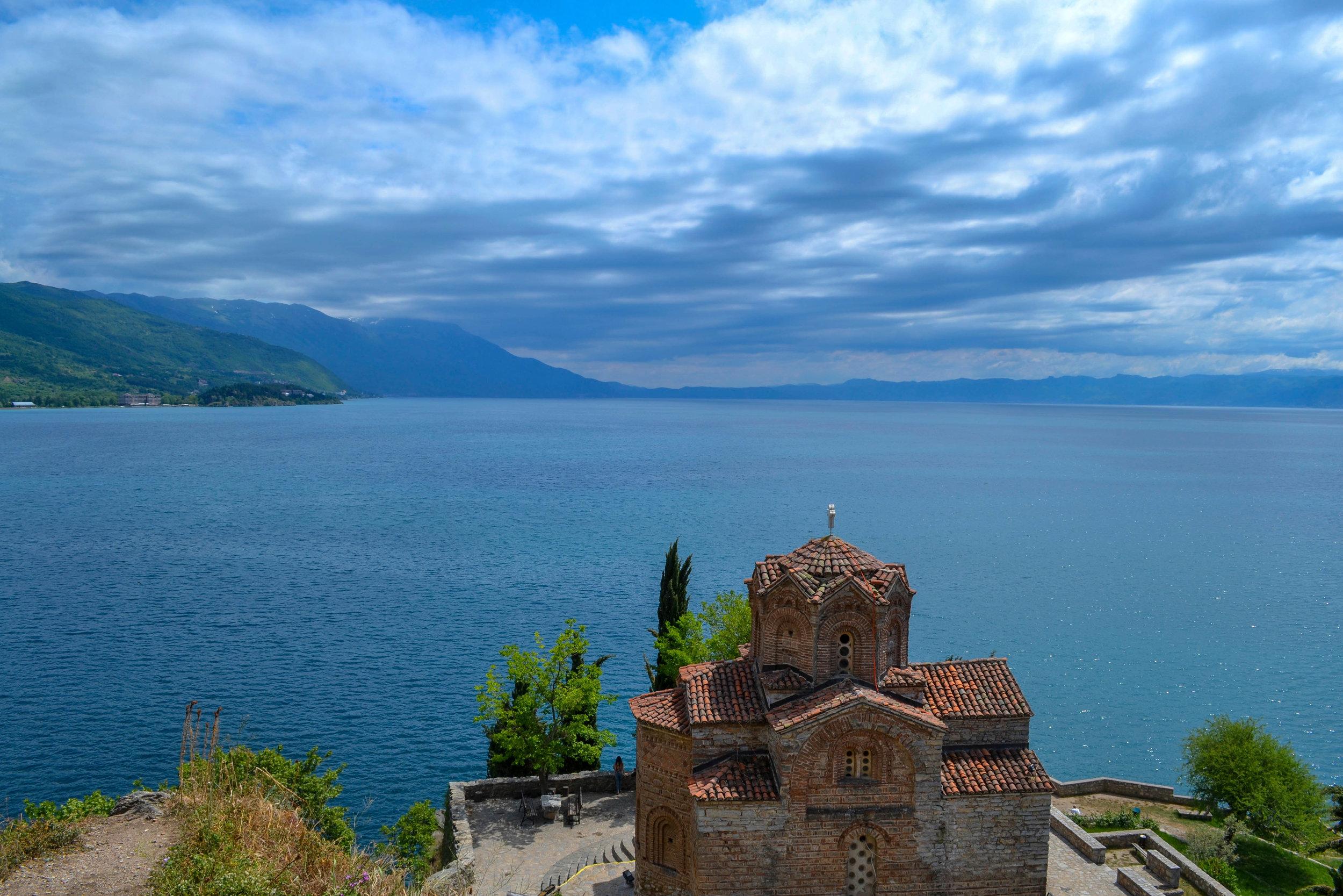 Church of St. John at Kaneo at Lake Ohrid in Macedonia