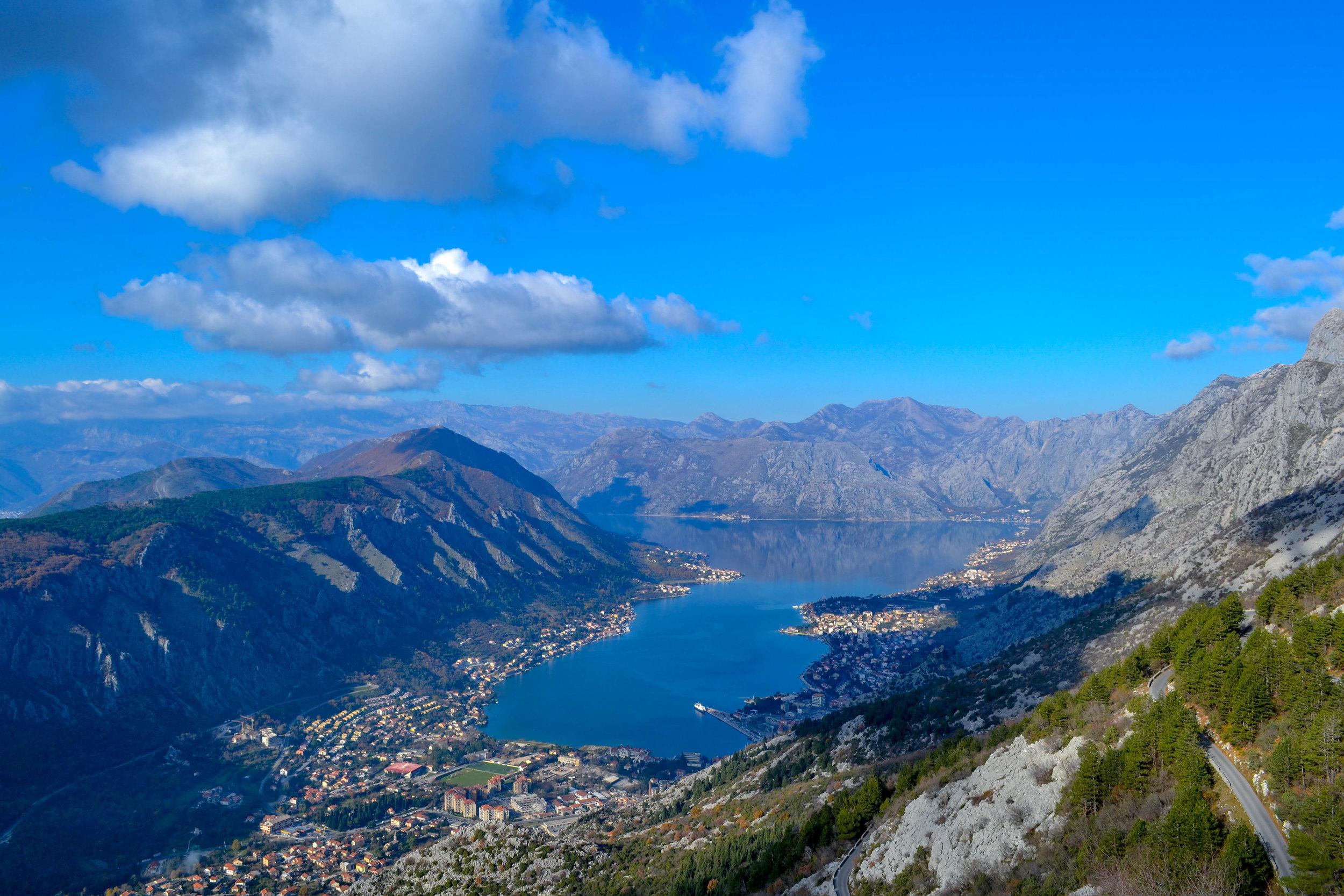 The Bay of Kotor in Montenegro