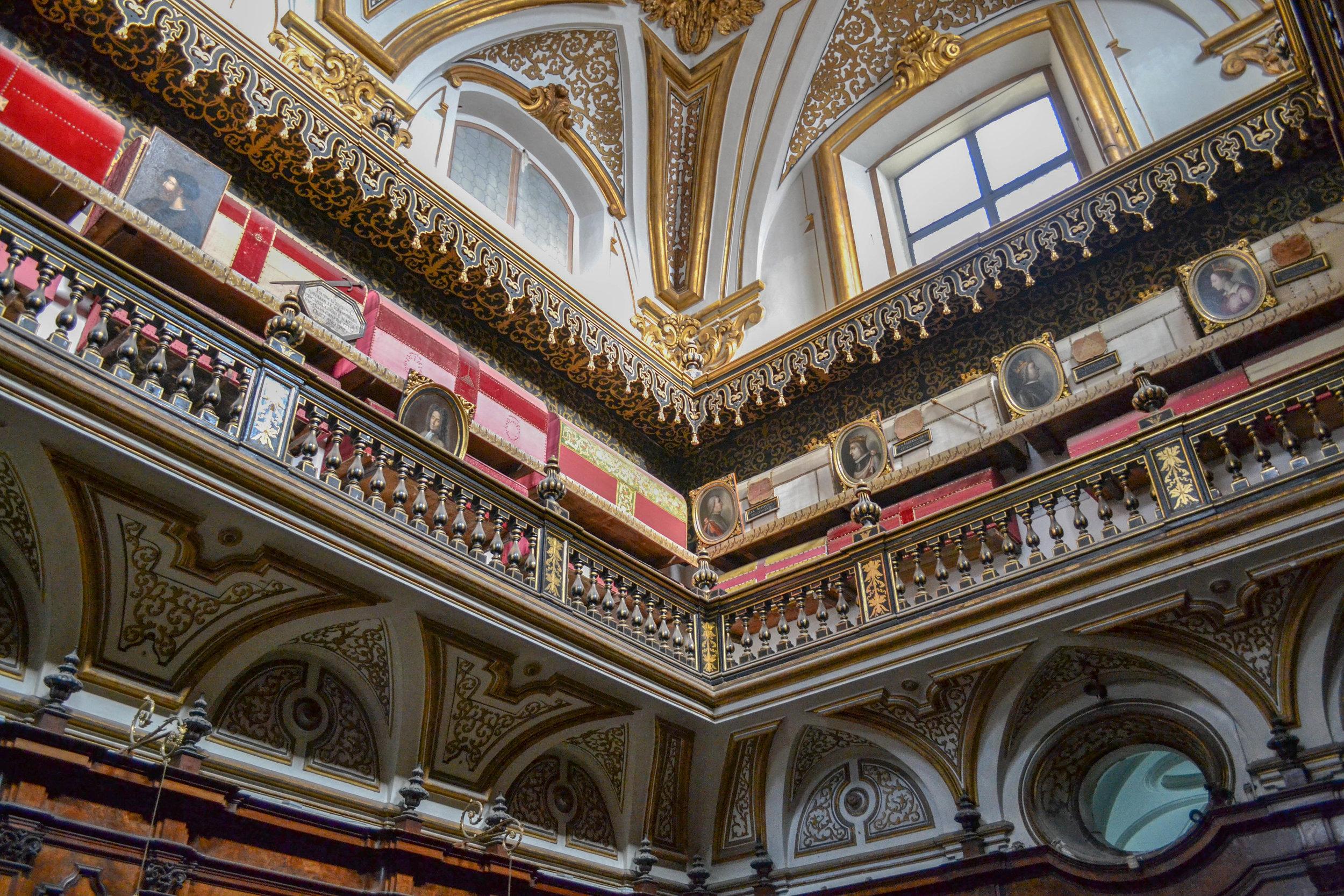 Caskets in San Domenico Maggiore