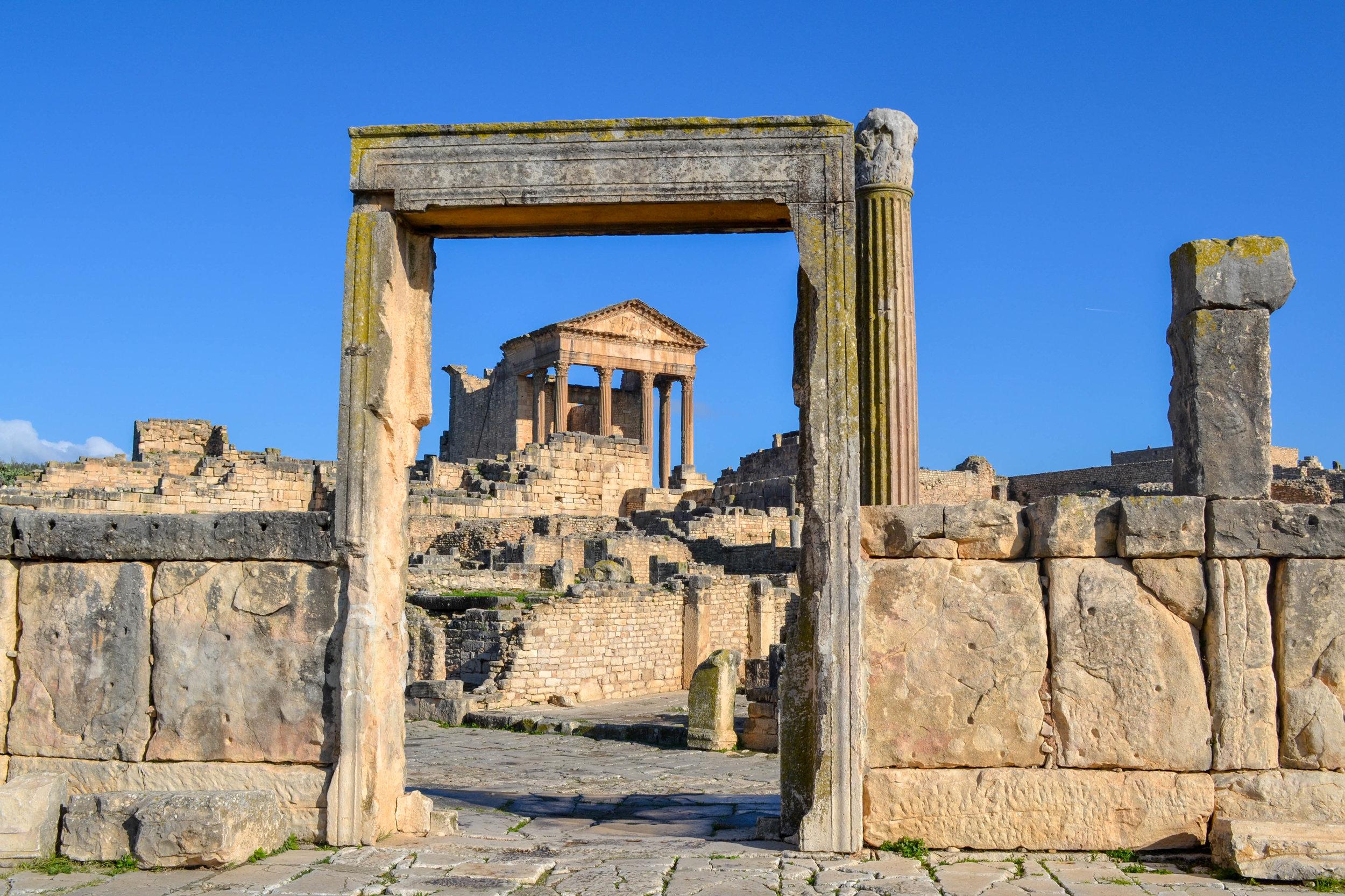 The ruins of Dougga in Tunisia