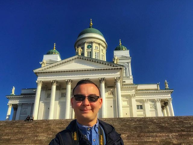 Greetings from Finland, the world's happiest country! #europe #finland #nordic #scandinavia #helsinki #helsinkicathedral #travel