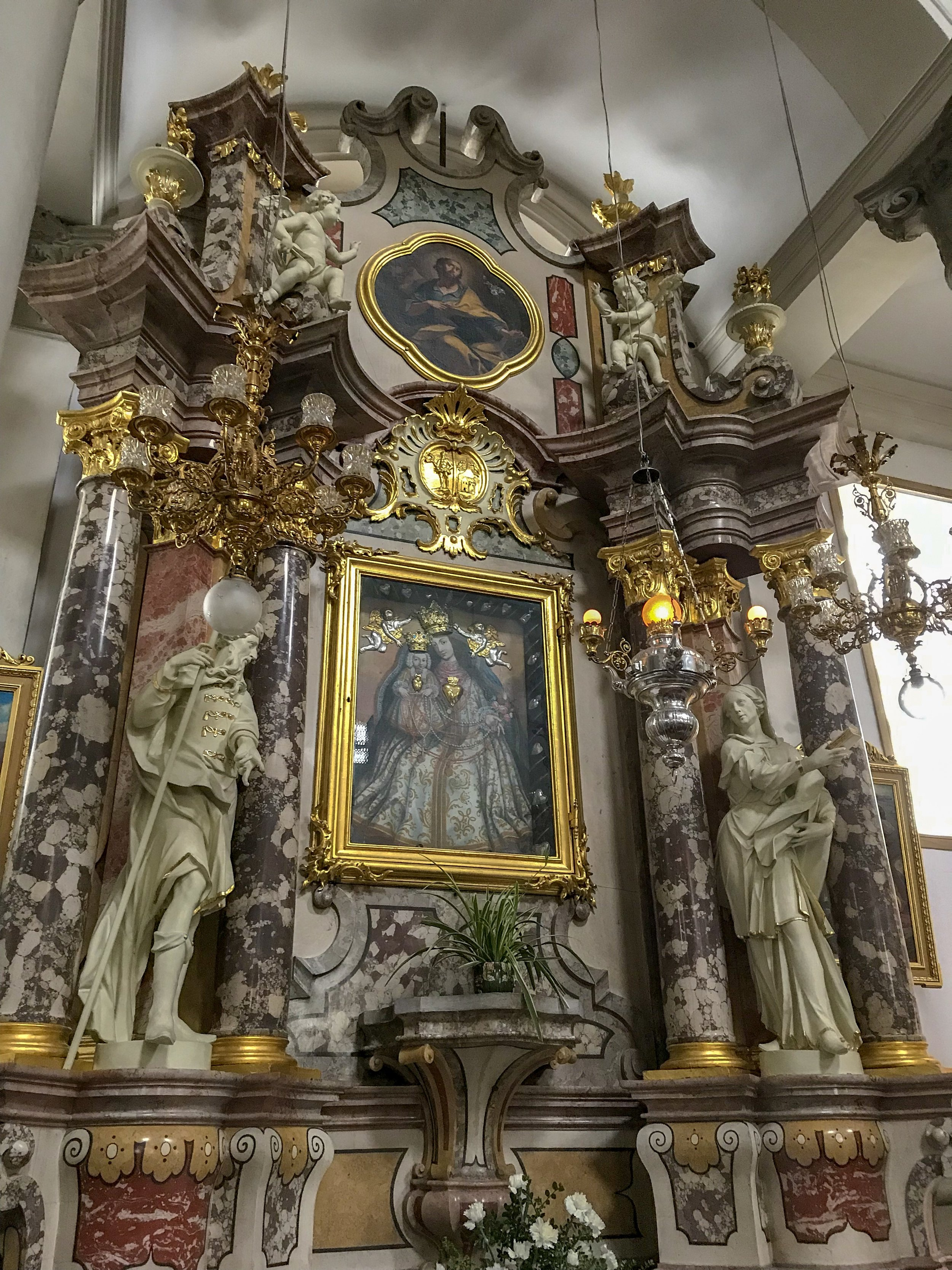 Ursuline Church of the Holy Trinity Side Altar