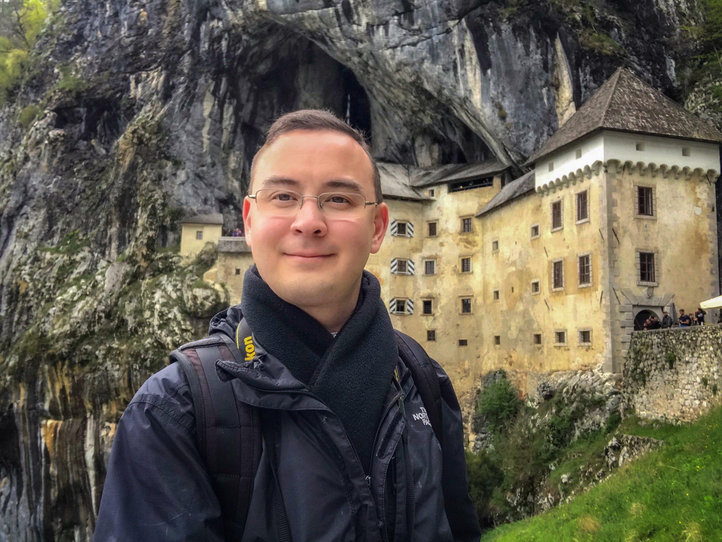The author at Predjama Castle