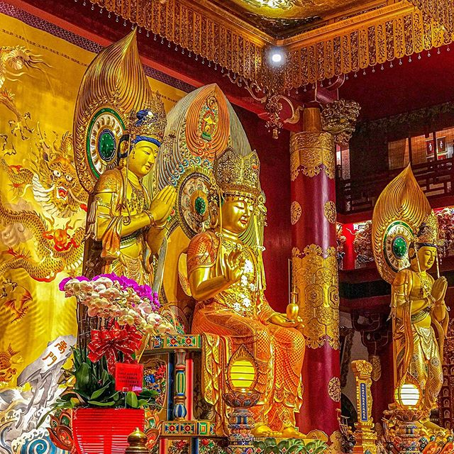 I love visiting Chinese temples because they are so unique with the art and sculptures that are inside.  There is always so much to see and learn.  I just wish I could read Chinese (maybe a future goal one day?) This picture is from the Buddha Tooth Relic Temple in Singapore...an absolutely amazing place! #singapore #southeastasia #buddhism #enlightenment #travel #travelphotography #buddhatoothrelictemple #chinesetemple