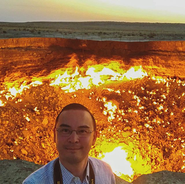 "The Darvaza Gas Crater in Turkmenistan is known as ""The Gates of Hell."" The fire has been continuously burning since at least 1971 due to a failed oil drilling operation.  It is definitely one of the main sites to see while in Turkmenistan, which is a very odd yet fascinating country in many other ways. #centralasia #turkmenistan #darvazagascrater #gatesofhell #travel #travelphotography #unique #tourism #landscapephotography #fire #adventure"