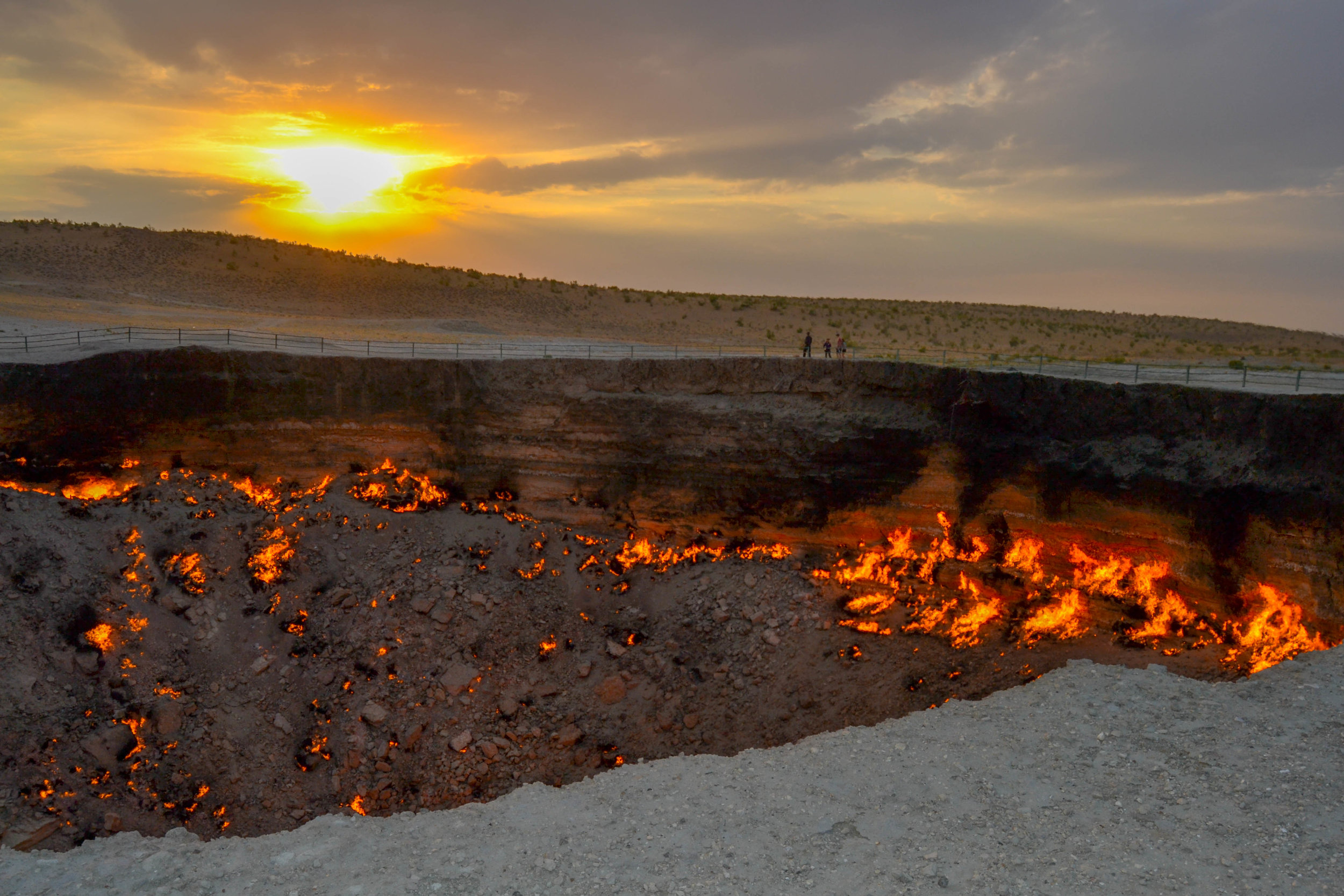 Sunset at the Crater