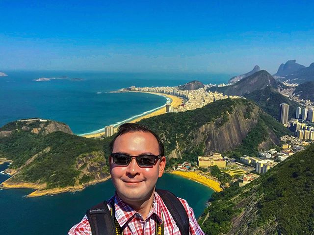 Greetings from Rio de Janeiro, Brazil!  This is an amazing city with some of the most beautiful views that I have ever encountered! #southamerica #brazil #riodejaneiro #copacabana #sugarloaf #corcovado #landscapephotography #travelphotography #travel #perfectweather