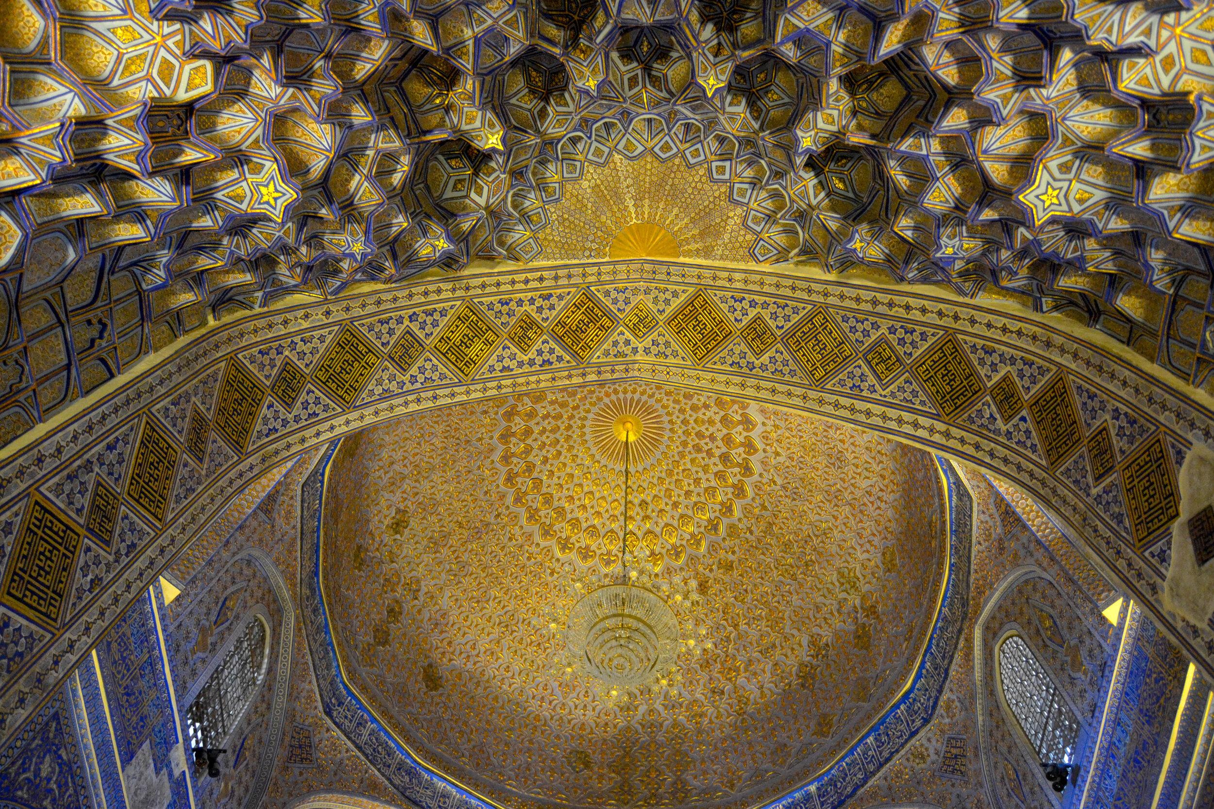 Tamerlane Mausoleum Ceiling