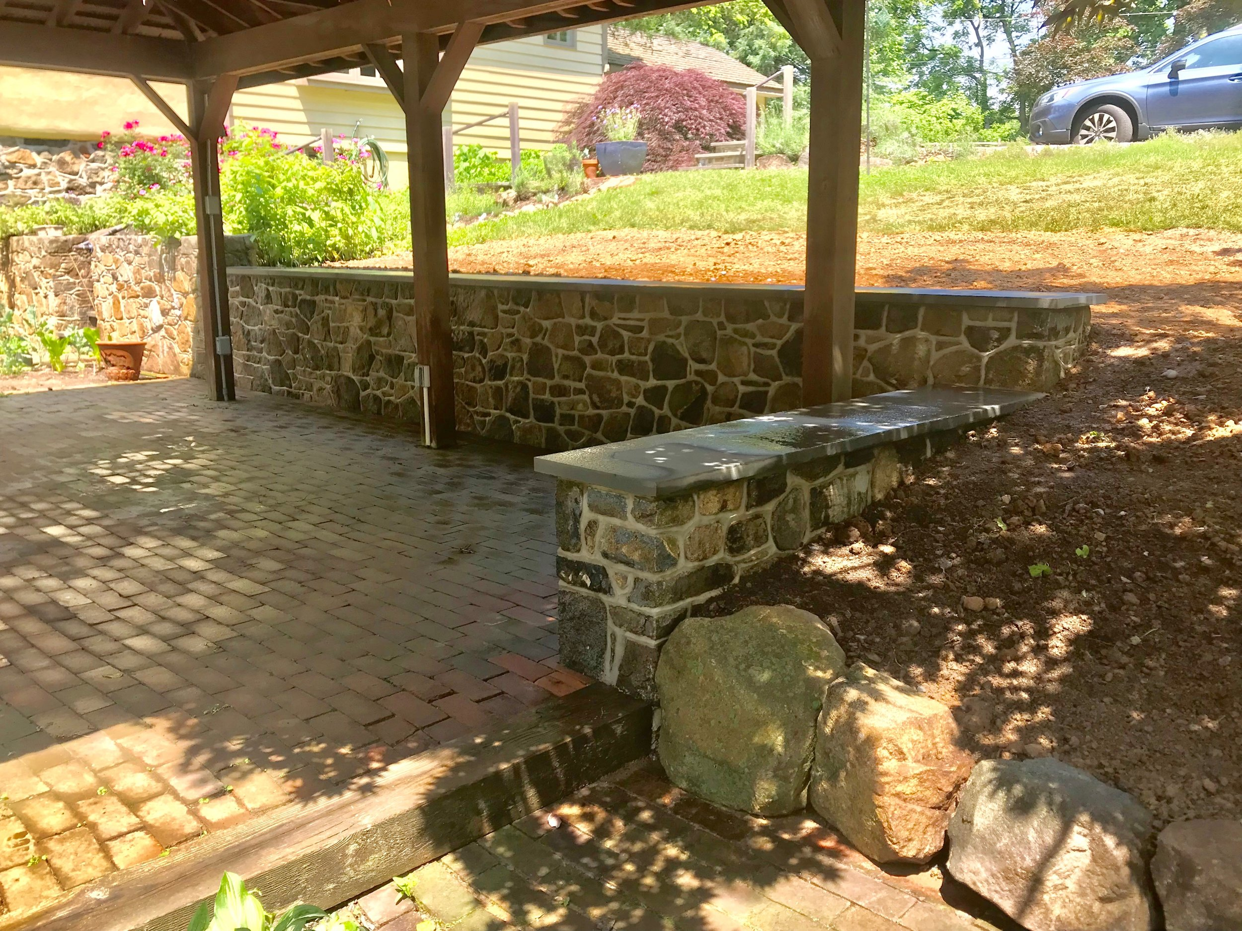 Copy of stone retaining wall in new hope, pa