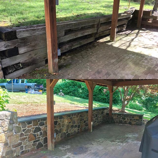 Realized we never shared the before & after of this wall in New Hope! Happy Friday!