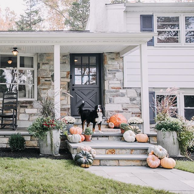 Happy Halloween from Solebury Masonry! We wrapped up our front porch remodel just in time to decorate for fall! Over the past year we installed a new landing, walkway, front door and front steps. We can't wait to share more of the finished product and process soon. Swipe over to see the before!