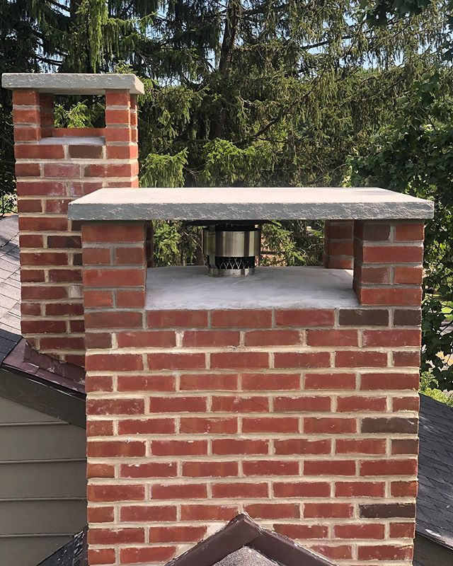 Set these chimney caps today with help from @thecranemaninc