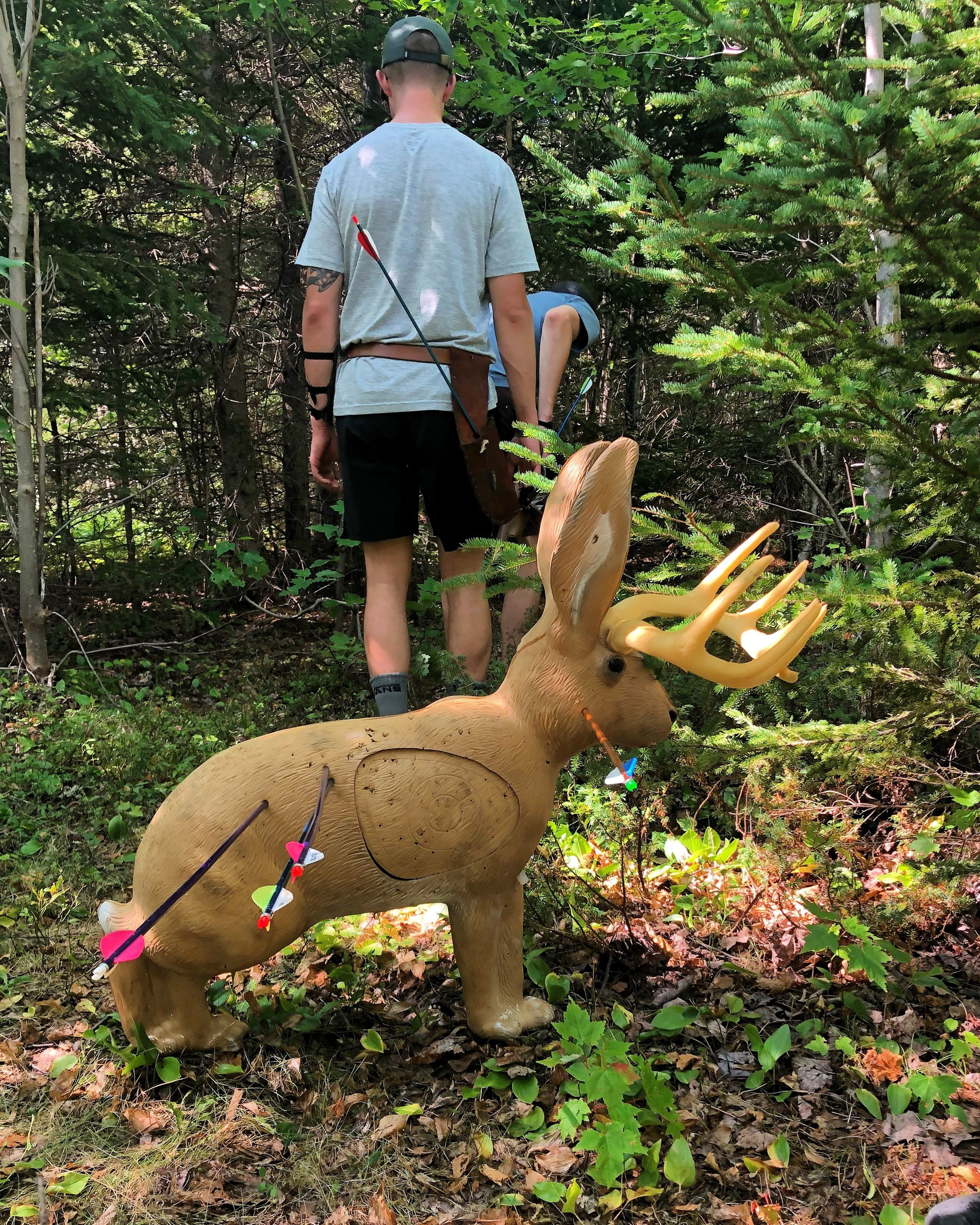 3D Jackelope Target in the woods