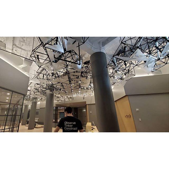 🔻🔺️🔻 : cooked up something kinetic with the vvox crew #kineticsculpture #interactiveart #designbuild #digitalfabrication #madeinbrooklyn #otc
