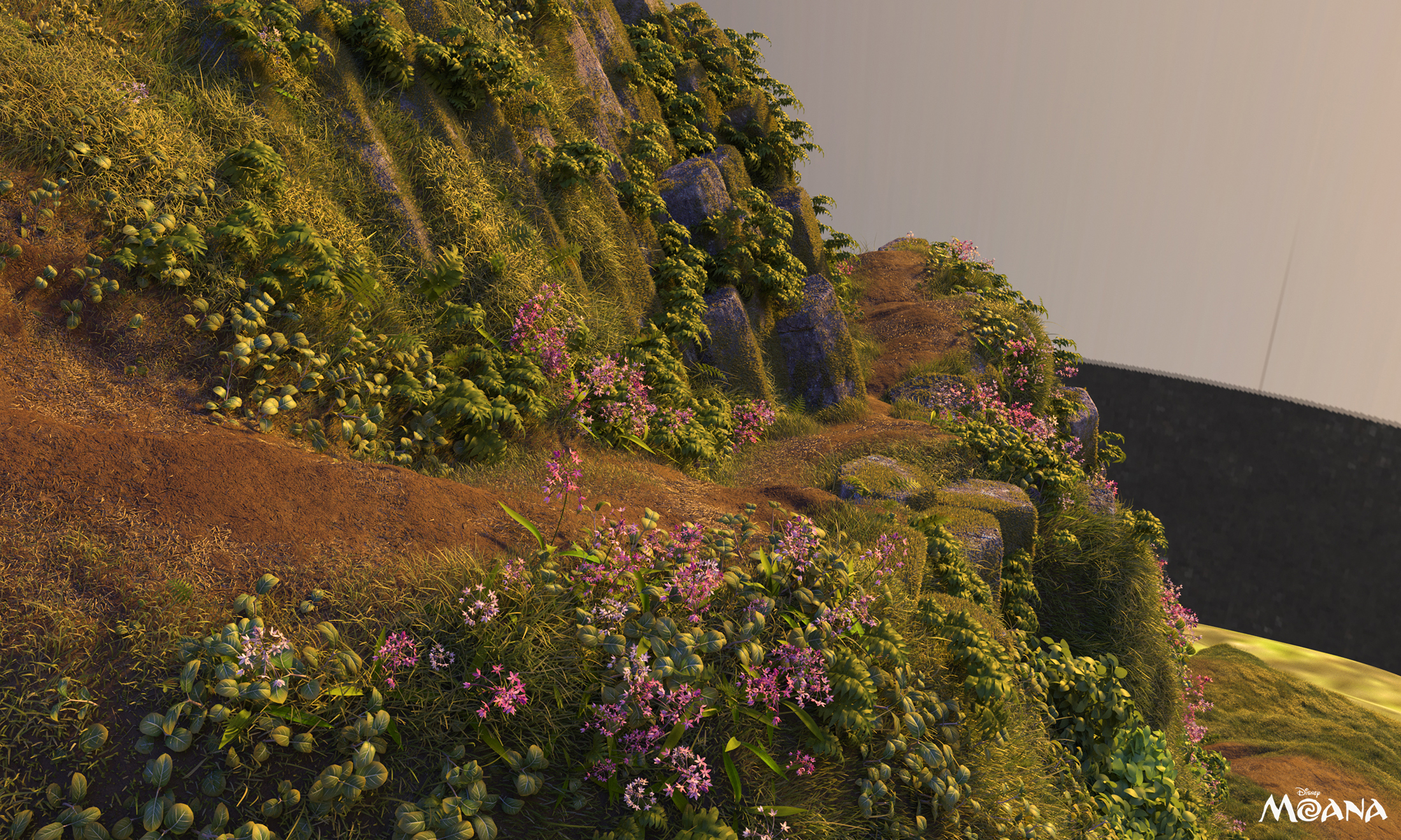 Look development Render - all vegetation done In look dev with xgen