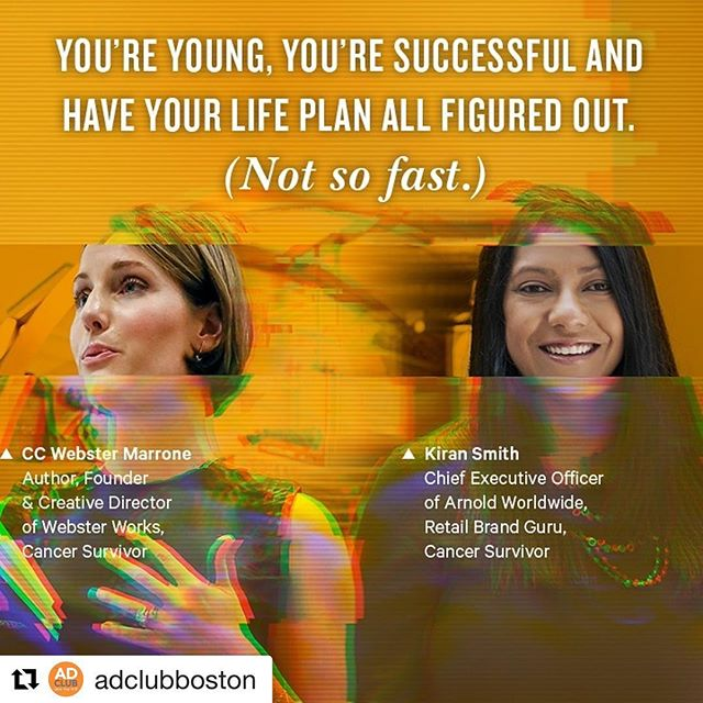 Cancer was never in my predetermined life script. But it also never reached for the crazy idea to write a book and start a business. 💫 Honored to share my story and the stage with warrior @kmishra93 at @adclubboston 2018 Women's Leadership Forum next week! See you soon, Boston ❤️