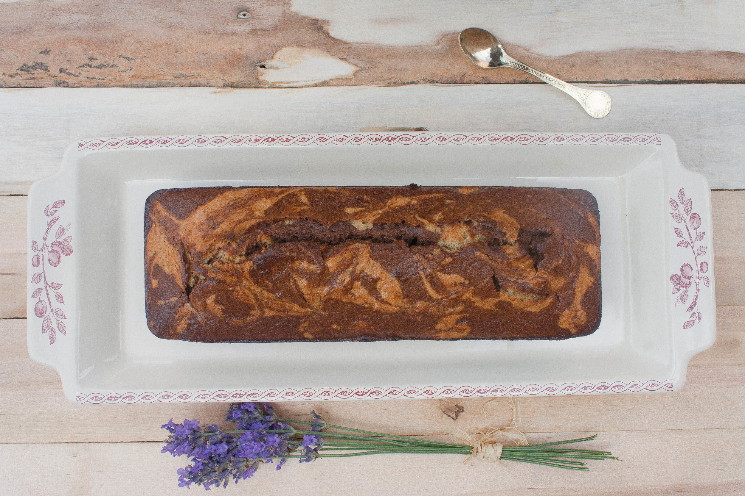Vegan & Gluten-free Chocolate and Coffee Marble Cake  -
