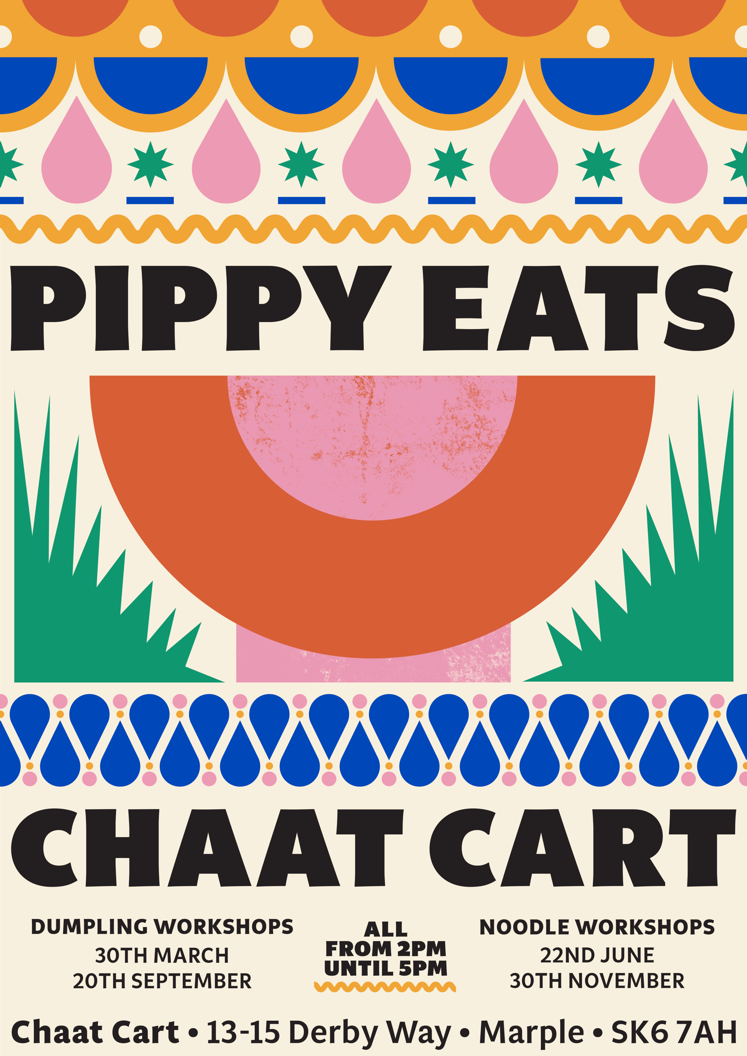 Pippy Eats x Chaat Cart - Taking her infamous Dumpling workshop on tour, this March Pippy Eats will be taking to Chaat Cart in Marple as part of long-term foodie collaboration.The hugely popular Dumpling Workshop takes place on the 30th March and teaches guests how to make her favourite types of dumplings from scratch, from prepping the dough to learning how to cater the filling to your own taste buds and finally pleating the delicious delicacies by hand.Tickets available from Eventbrite