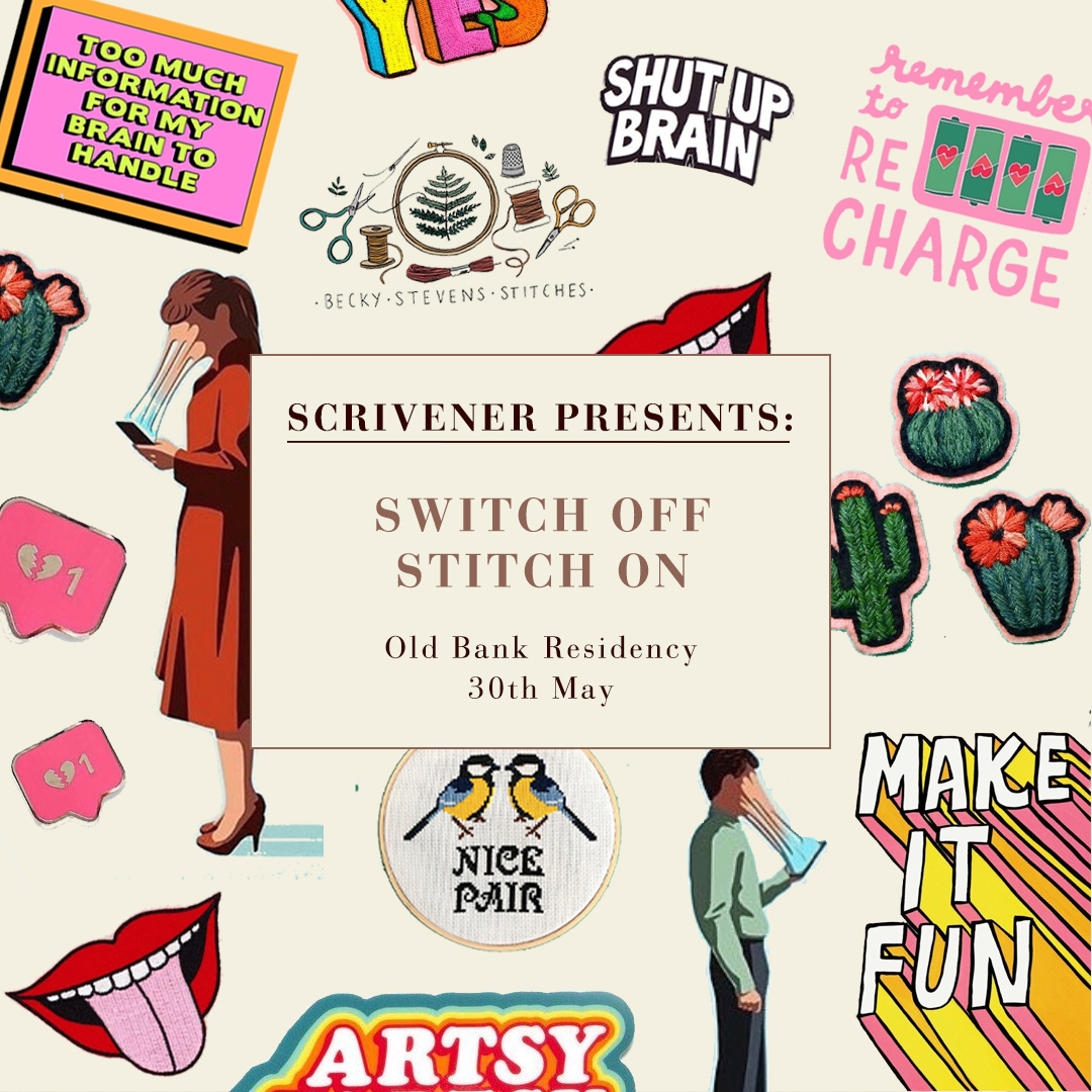 Scrivener Presents: Switch Off, Stitch On - A Mindful Making & Living Workshop - For students in need of a break from their screens and books this May, the brilliant writing tool and app, Scrivener is on hand to help you #keepittogether this exam season.Their latest event series which takes place across Manchester, Leeds and London serves up just the right amount of head-space and real talk for the tired but wired student.Switch off, Switch on, an embroidery and blogger workshop takes place on the 30th May at The Old Bank Residency with Embroidery artist Becky Stevens teaching you the therapeutic ways of the cross stitch and typically 'switched on' bloggers, Dominique Binns and kat Horrocks sharing their advice on how best to balance your life online and IRL.All guests to the event will receive a 20% off code for Scrivener.Details:Date: Thursday, 30 May 2019Time: 18:00 PM - 20.00 PMLocation: Old Bank Residency, Hanover Street, NOMA, Manchester, M4 4AHTickets £5