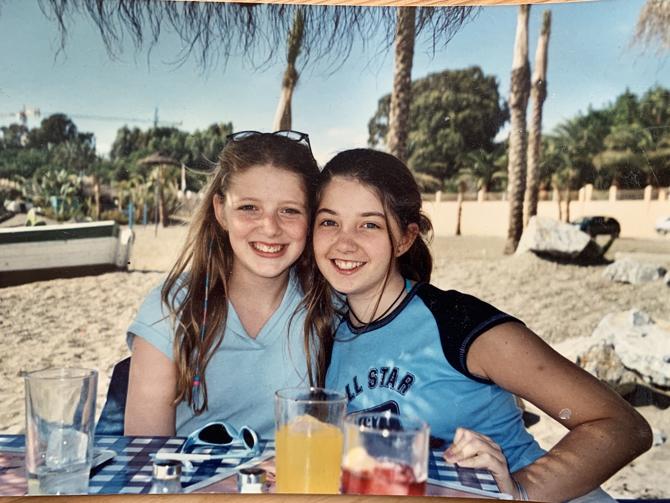 Grace and I at Tramps , aged 9 (ish)