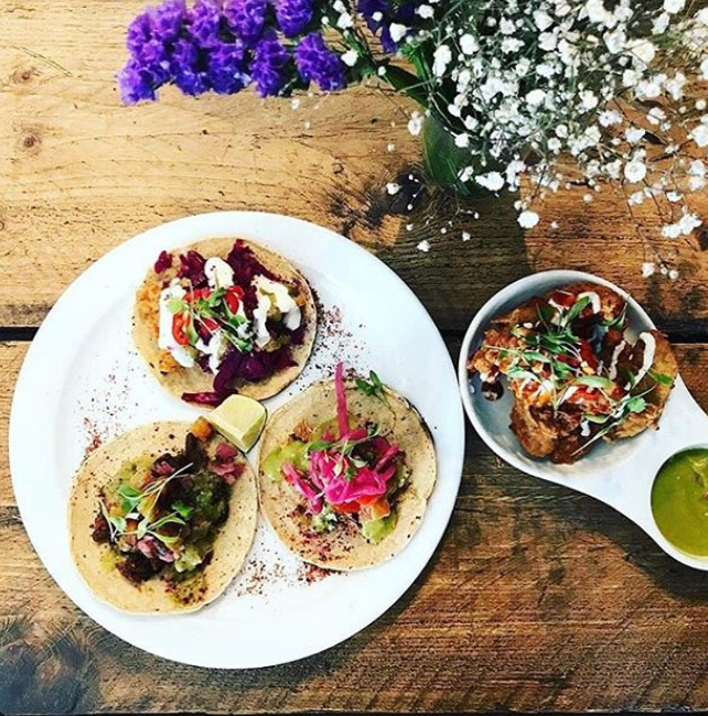 The Spread Eagle, London - London's first vegan pub opened its doors in 2017, marking the start of what has proved a plant-based revolution in the capital. Alongside its long line of vegan beers and wines is a standout food menu from chef Meriel Armitage's Club Mexicana. Having previously pioneered her concept of high-quality vegan fast-food at a series of popups and supperclubs, Armitage's characterful vegan Mexican cuisine is a colourful clash of fresh flavours across a menu of tacos, nachos, burritos and some of the city's best 'wings'.thespreadeaglelondon.co.uk