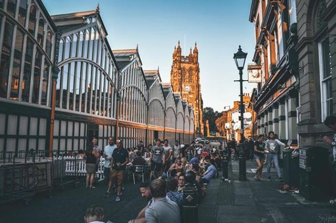 Stockport Market captured by  Heathcote Photography
