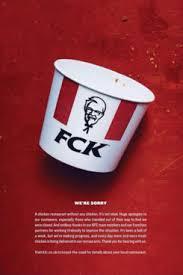 KFC's apology ad.