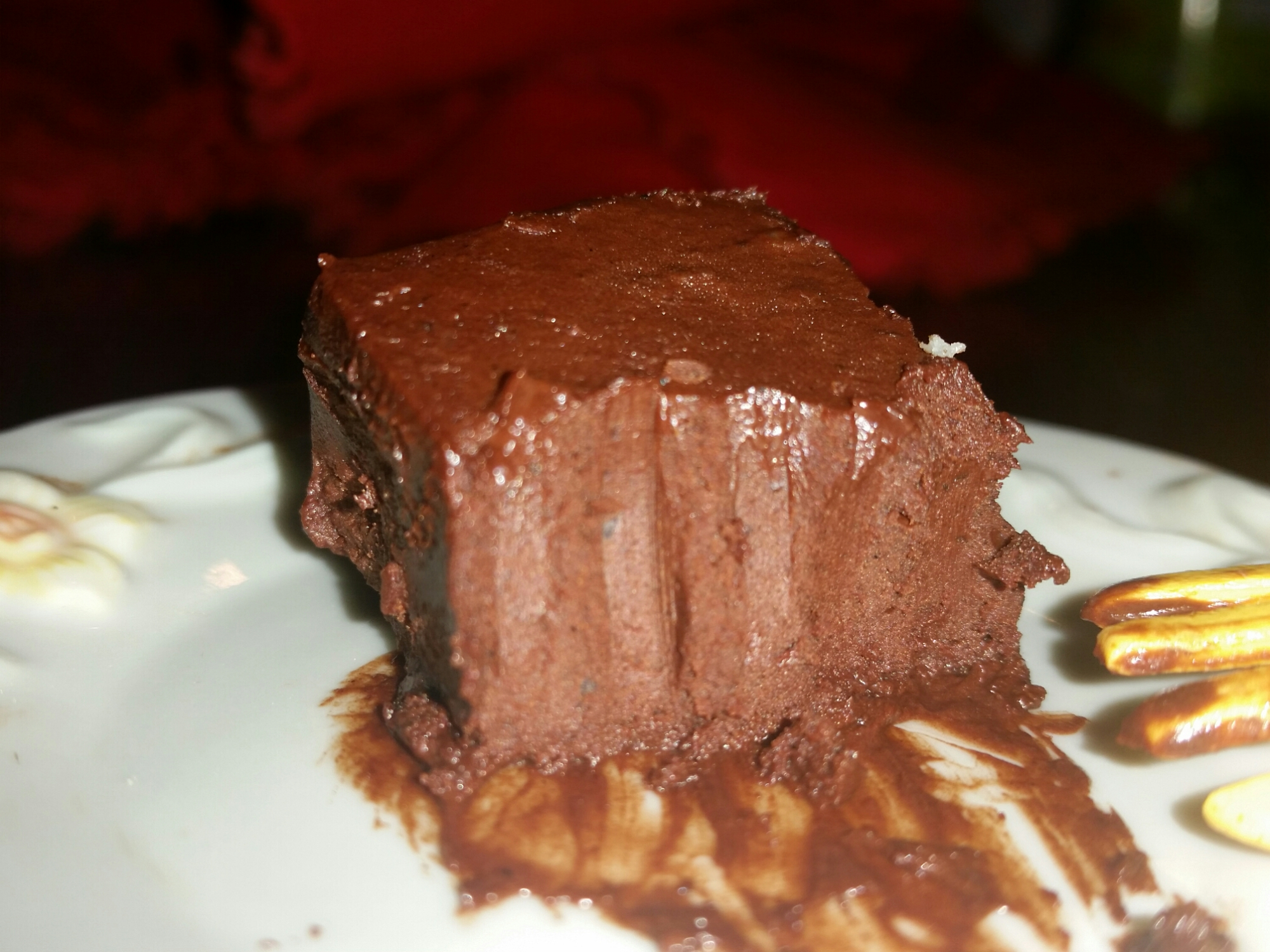 Food Processor Maple Chocolate Fudge (Vegan, Paleo, Raw) with fork mark.jpg