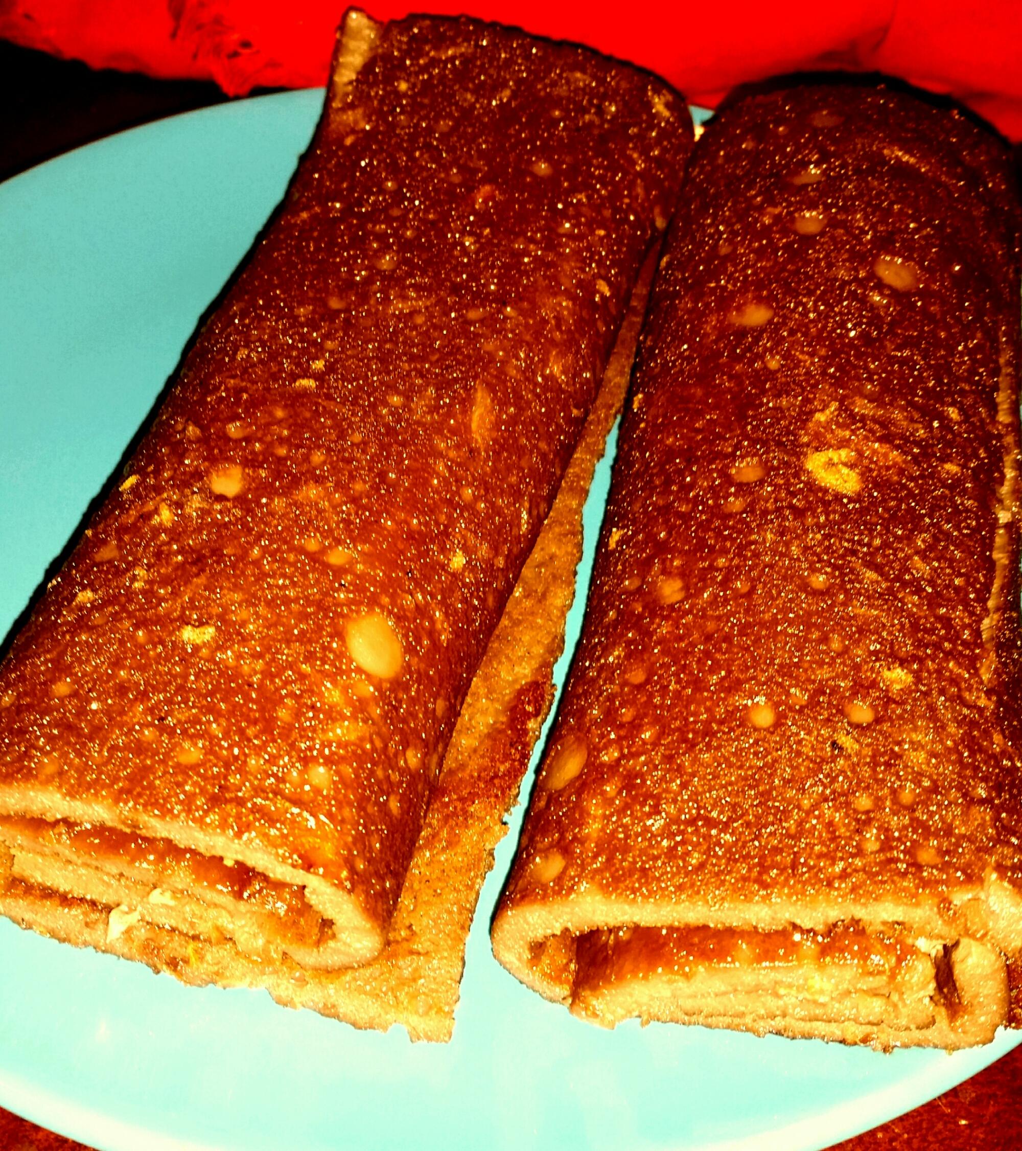 Torta de Laranja / Orange Pinwheel, custard version (Paleo)