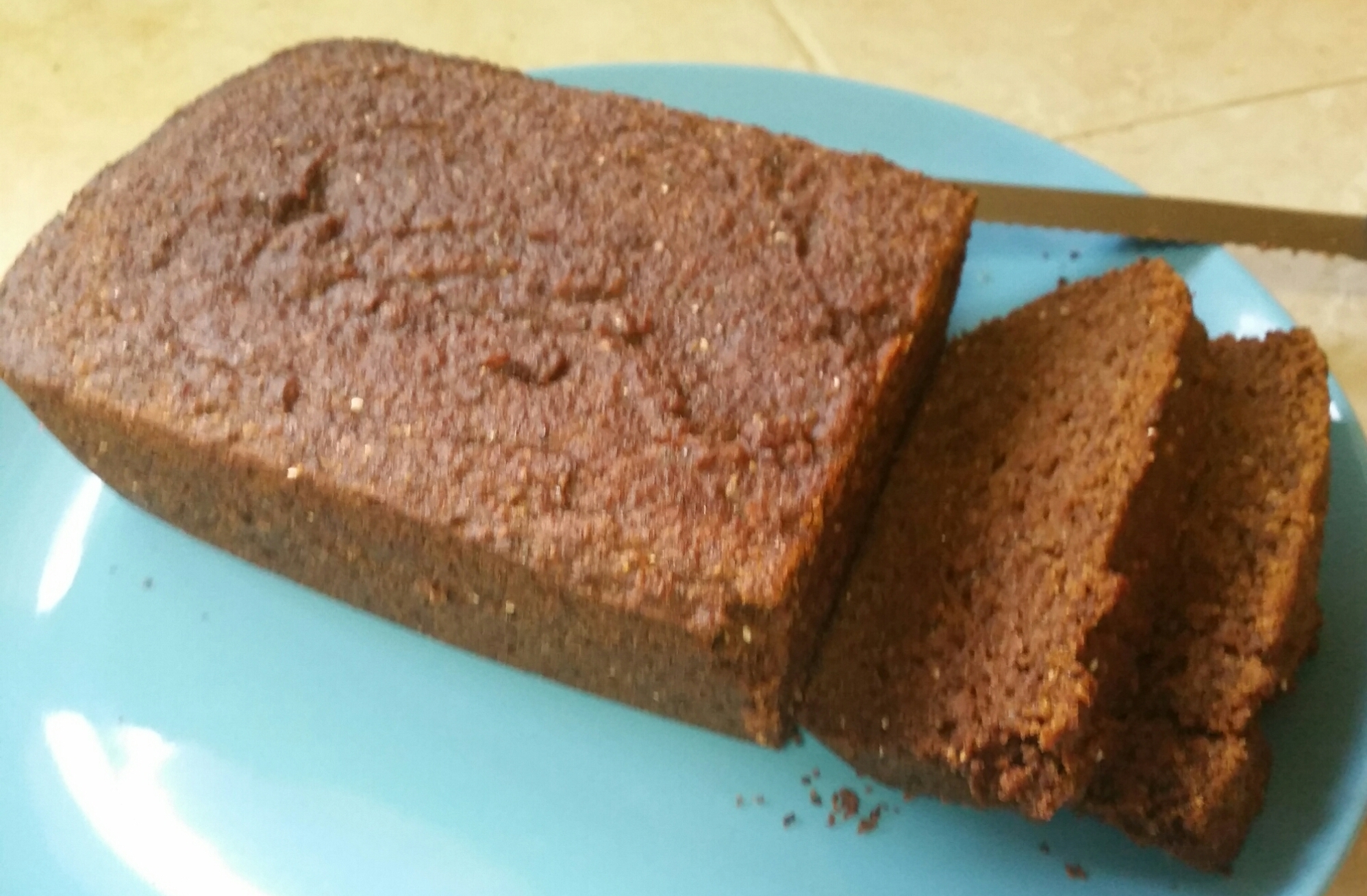 Paleo Persimmon Bread plated