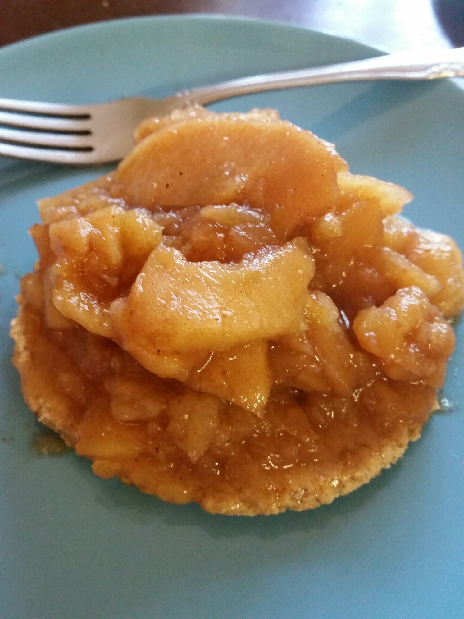 - Apple Pie Filling on a tortilla.