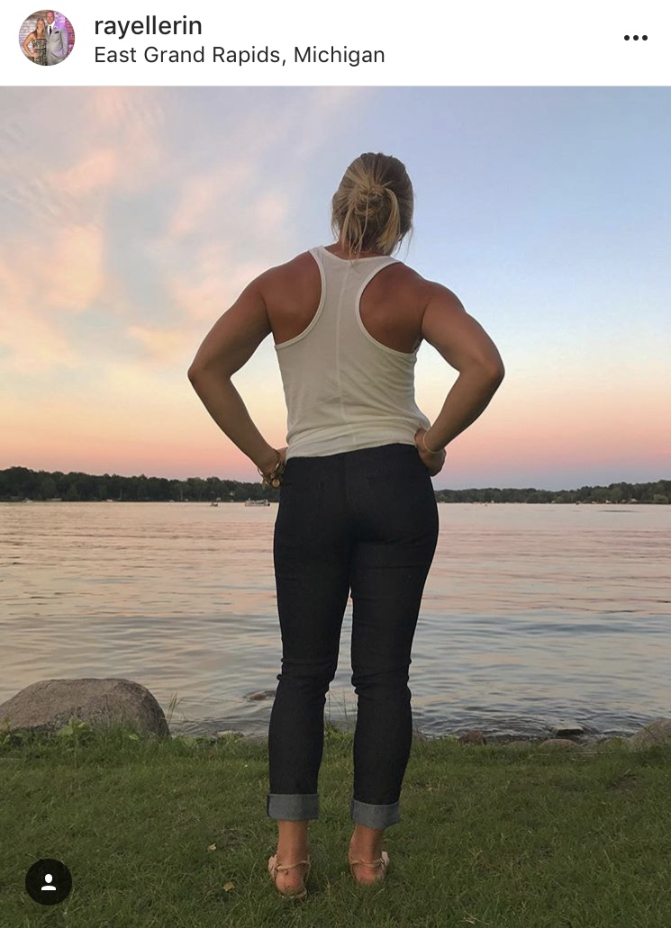 """- """"In love with my @tenacityjeans. Finally a pair of jeans that fit my athletic body""""-RayellUniversity of Connecticut & USA Field Hockey Alumni"""