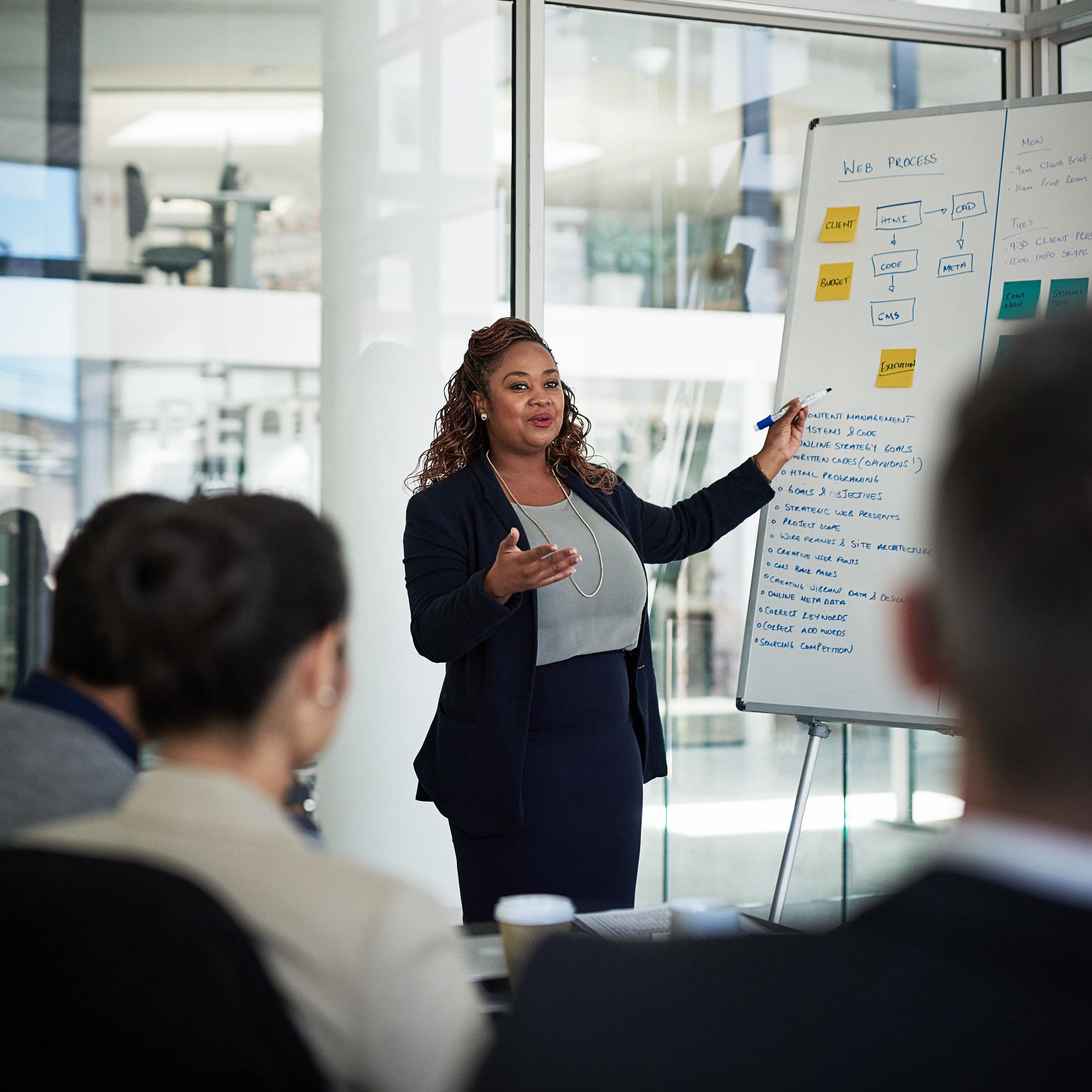 Executive education seminars centered on leadership, business and people skills.