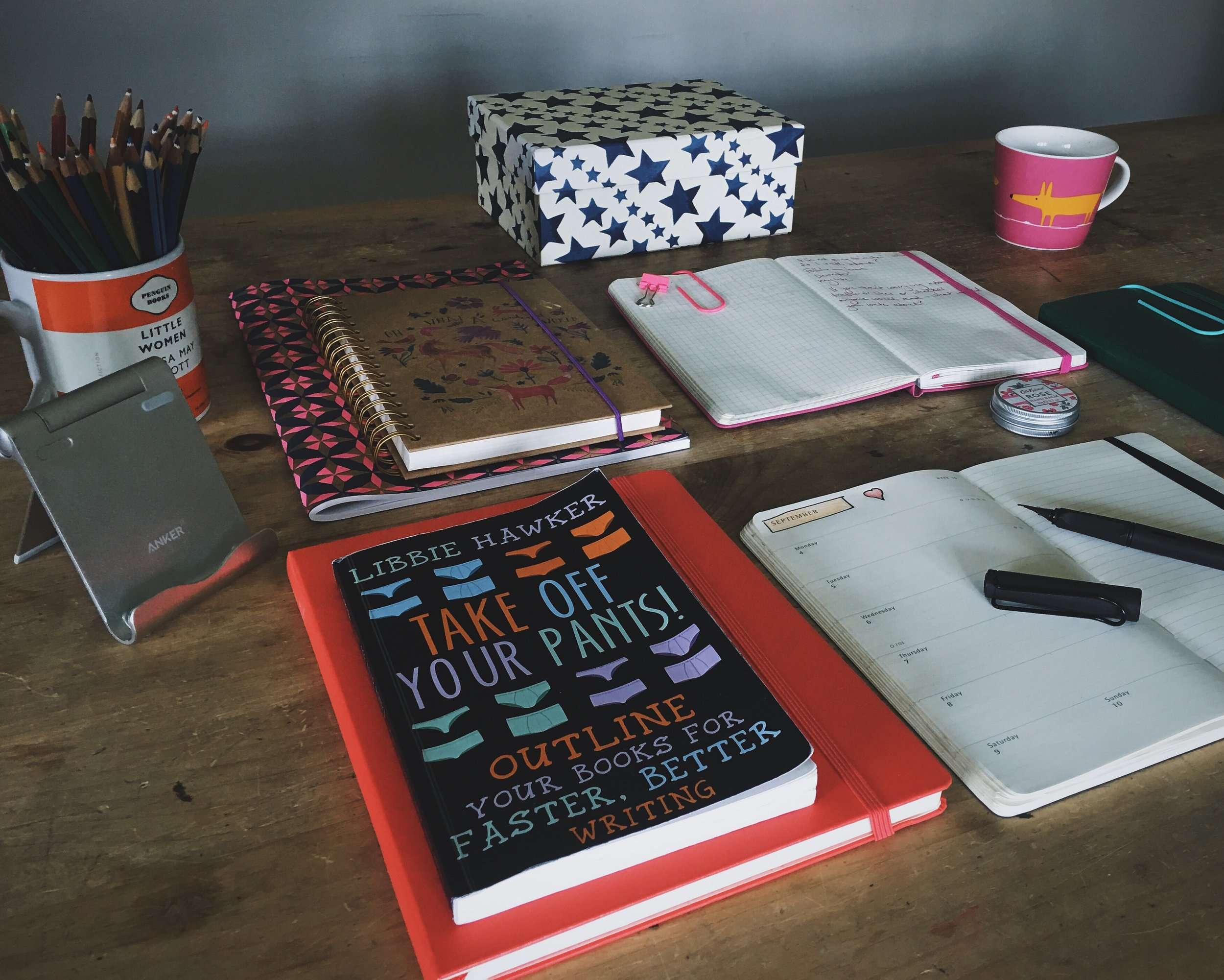 my desk essentials for september