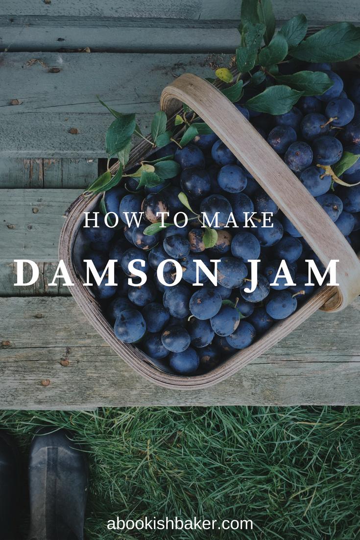 how to make damson jam. Homemade, preserves, autumn, fruit, harvest, jelly, plum.
