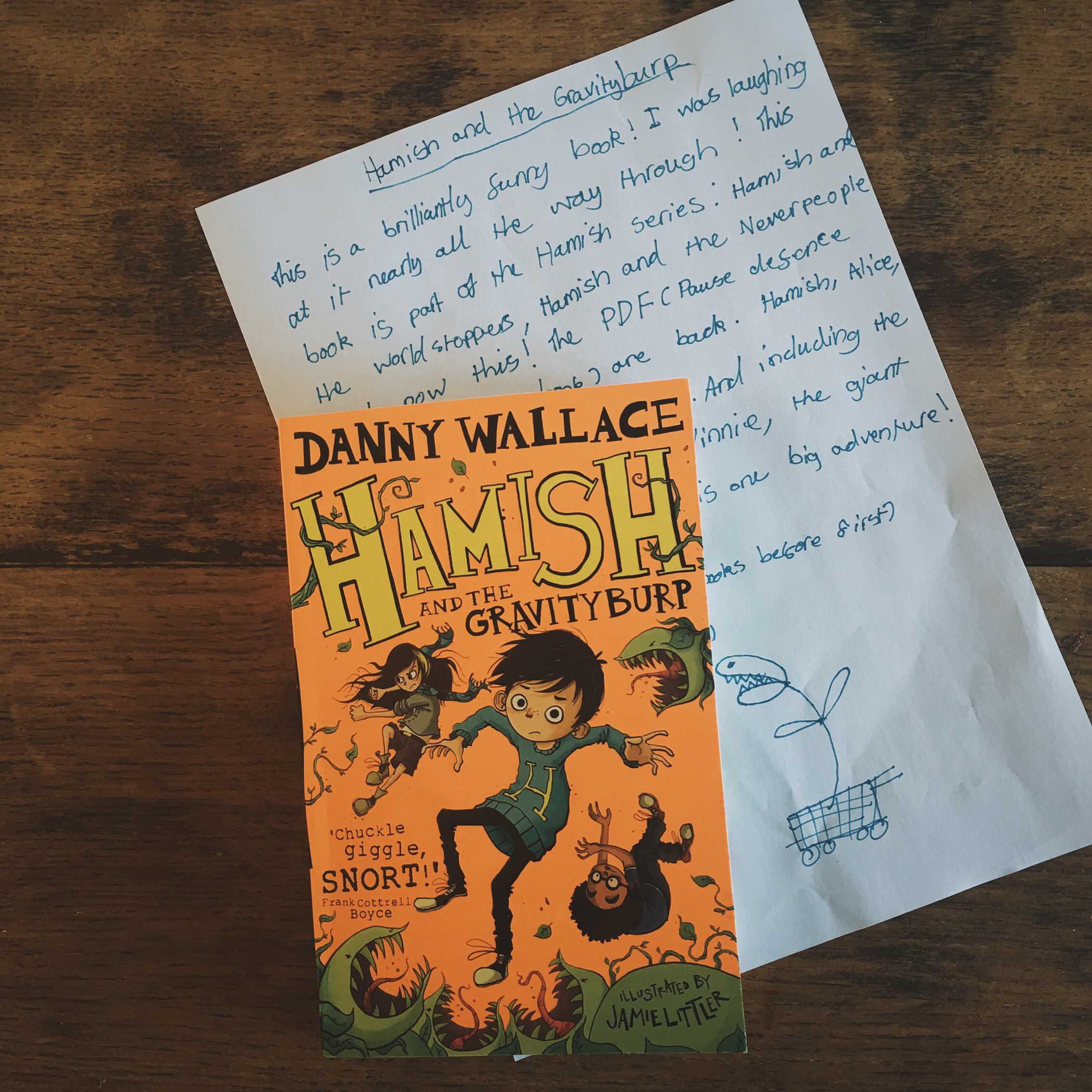 recommended books for children Hamish and the gravity burp