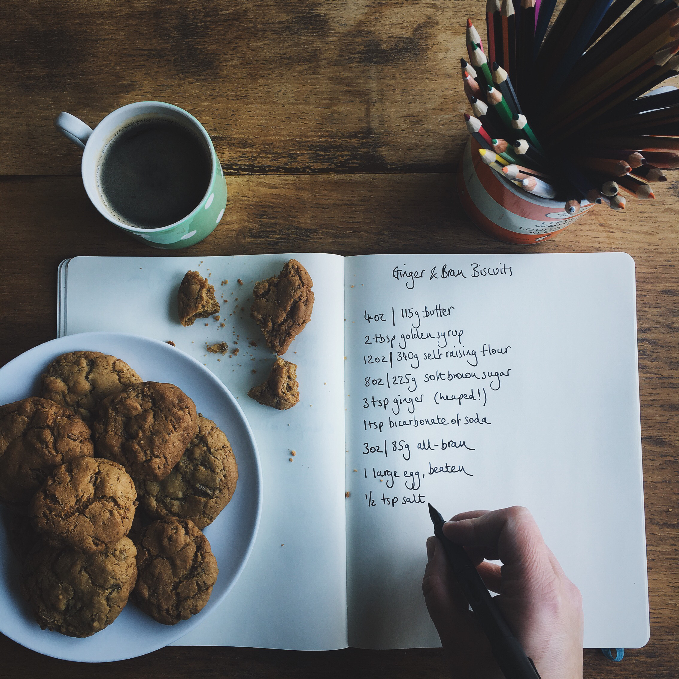 how to make ginger and all-bran biscuits